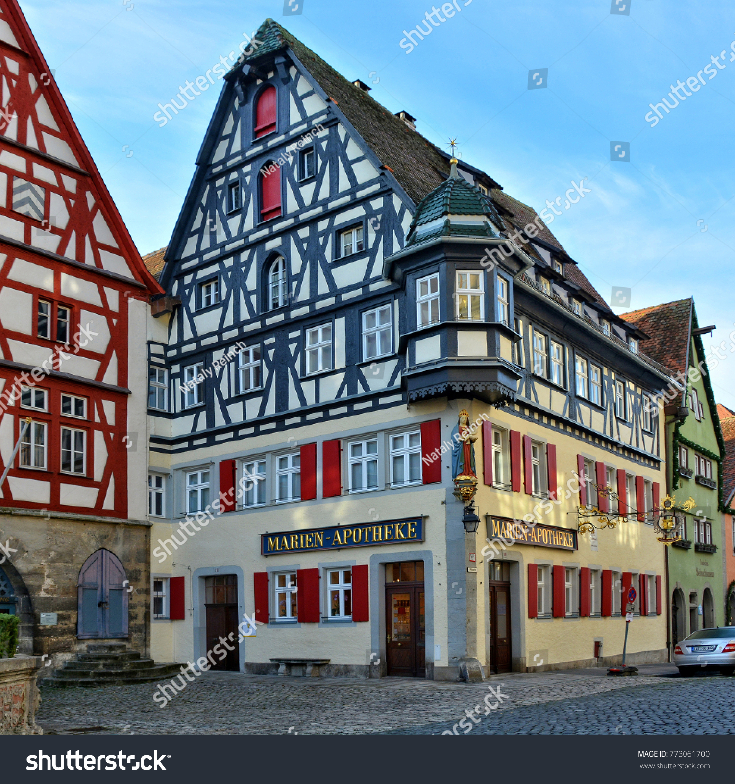German Architecture And Art Ancient Half Timbered Houses In A Medieval Old Town