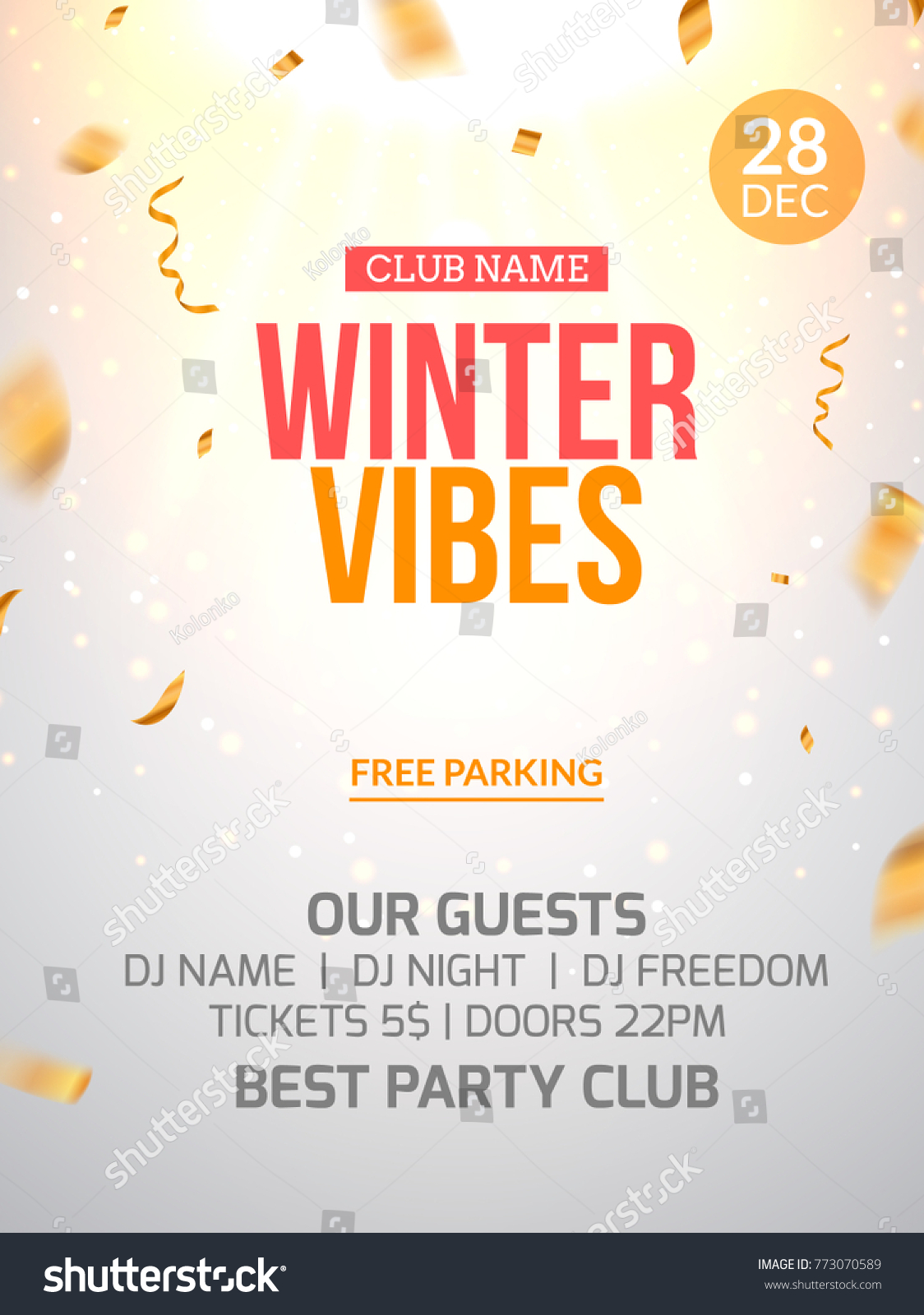New Year Party Design Banner Flyer Stock Vector (Royalty Free ...