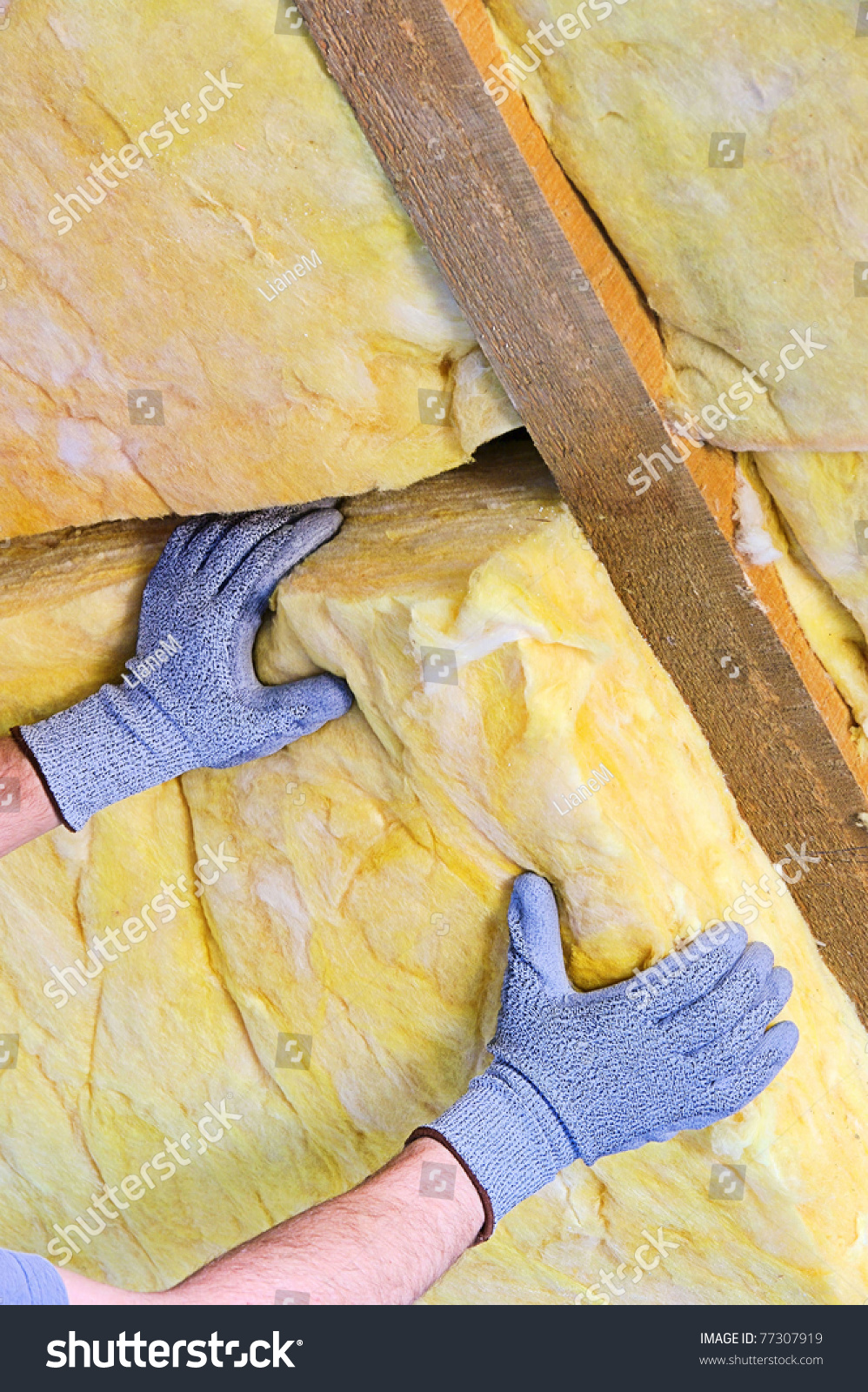 Mineral rock wool stock photo 77307919 shutterstock for Stone mineral wool