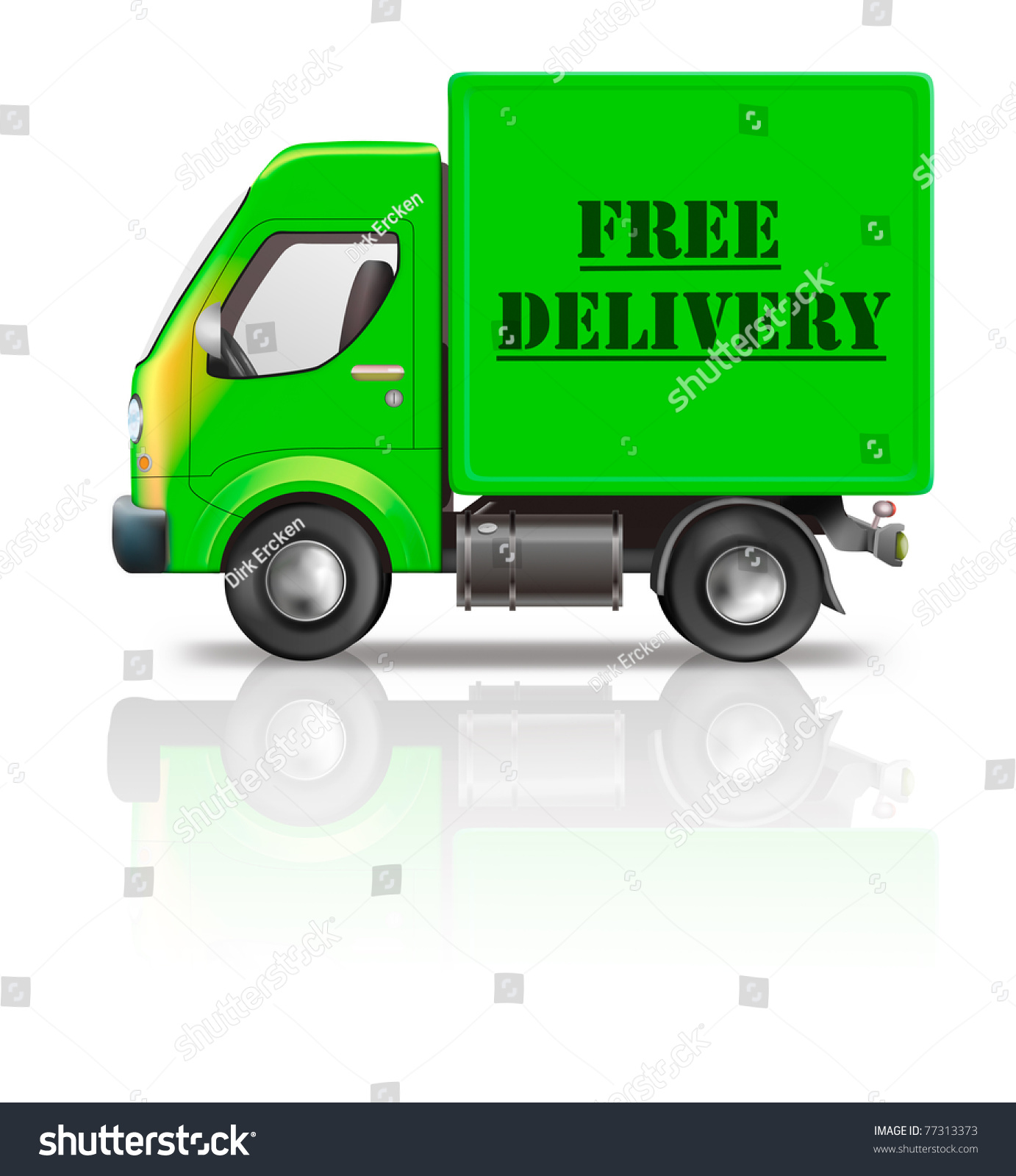 free delivery truck package delivery free stock illustration