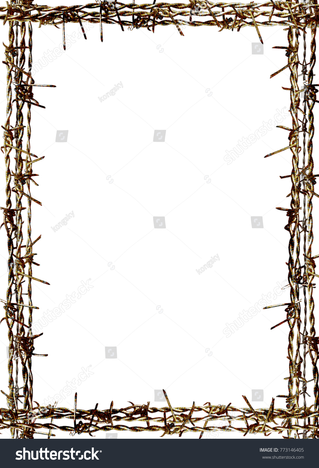 Rusty Barbed Wire Isolated On White Stock Photo (Edit Now)- Shutterstock