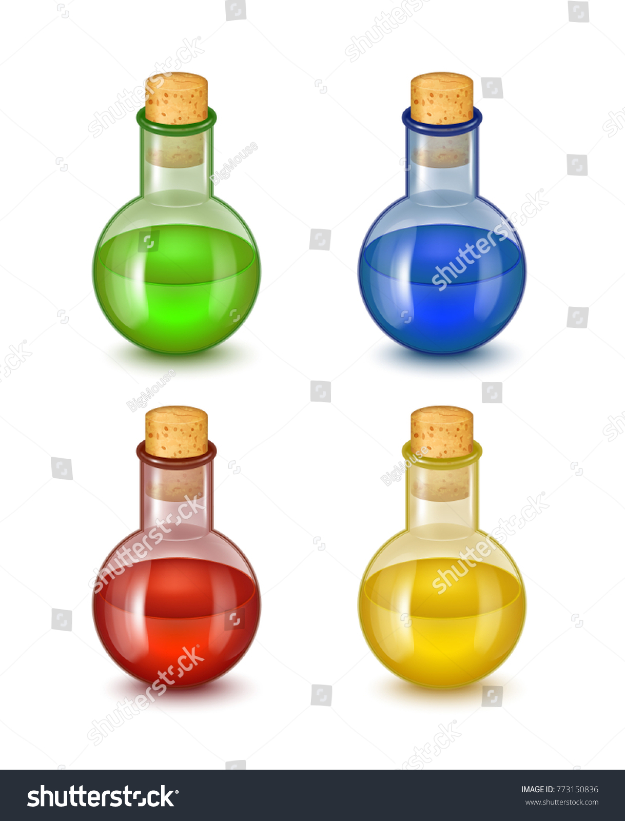 Realistic detailed glass bottle toxic poison stock vektorgrafik realistic detailed glass bottle of toxic poison set symbol of chemical danger vector illustration biocorpaavc