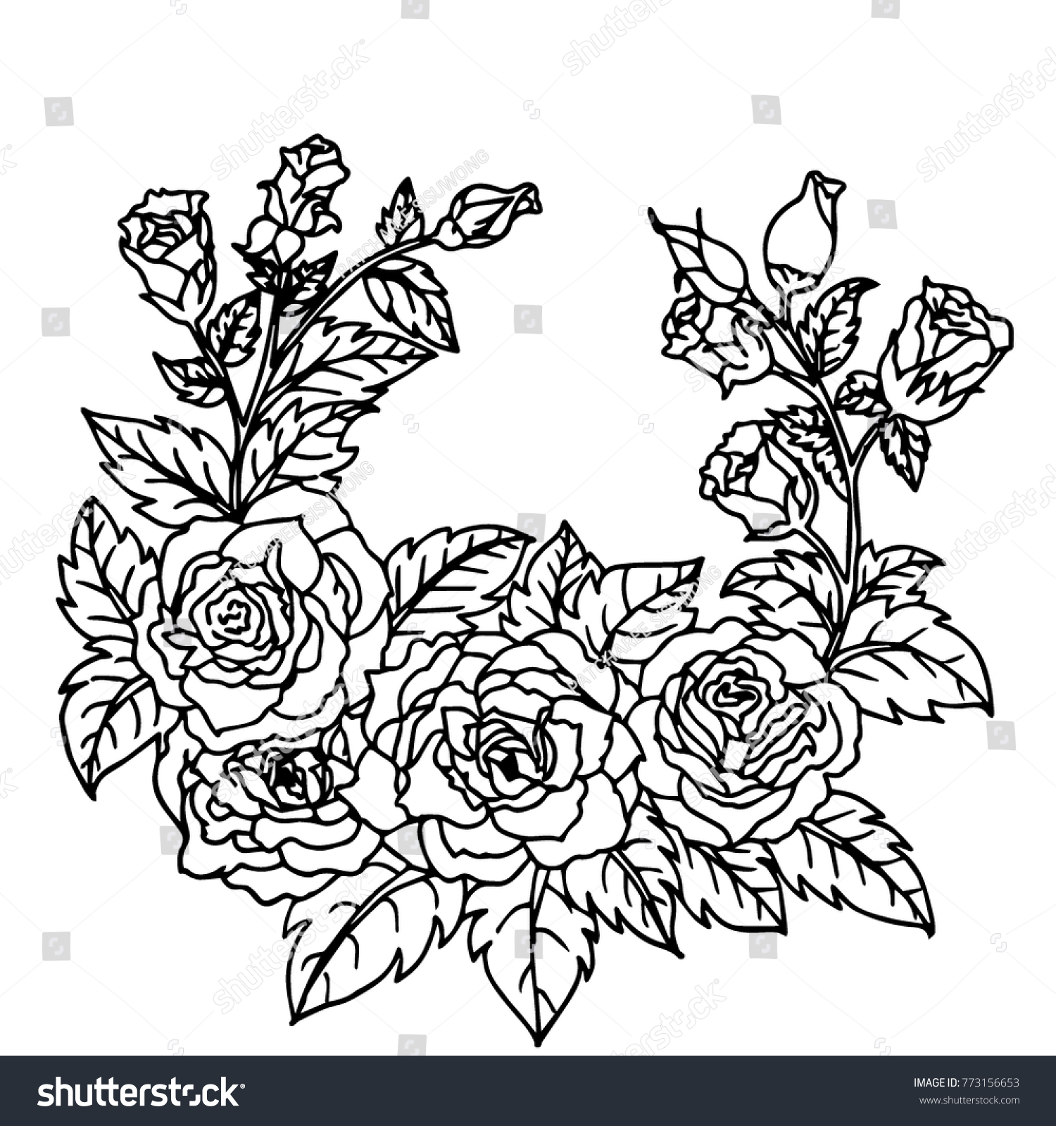 Beautiful flowers greeting card design wedding stock vector royalty beautiful flowers for greeting card design and wedding invitations birthdays valentines day mothers izmirmasajfo