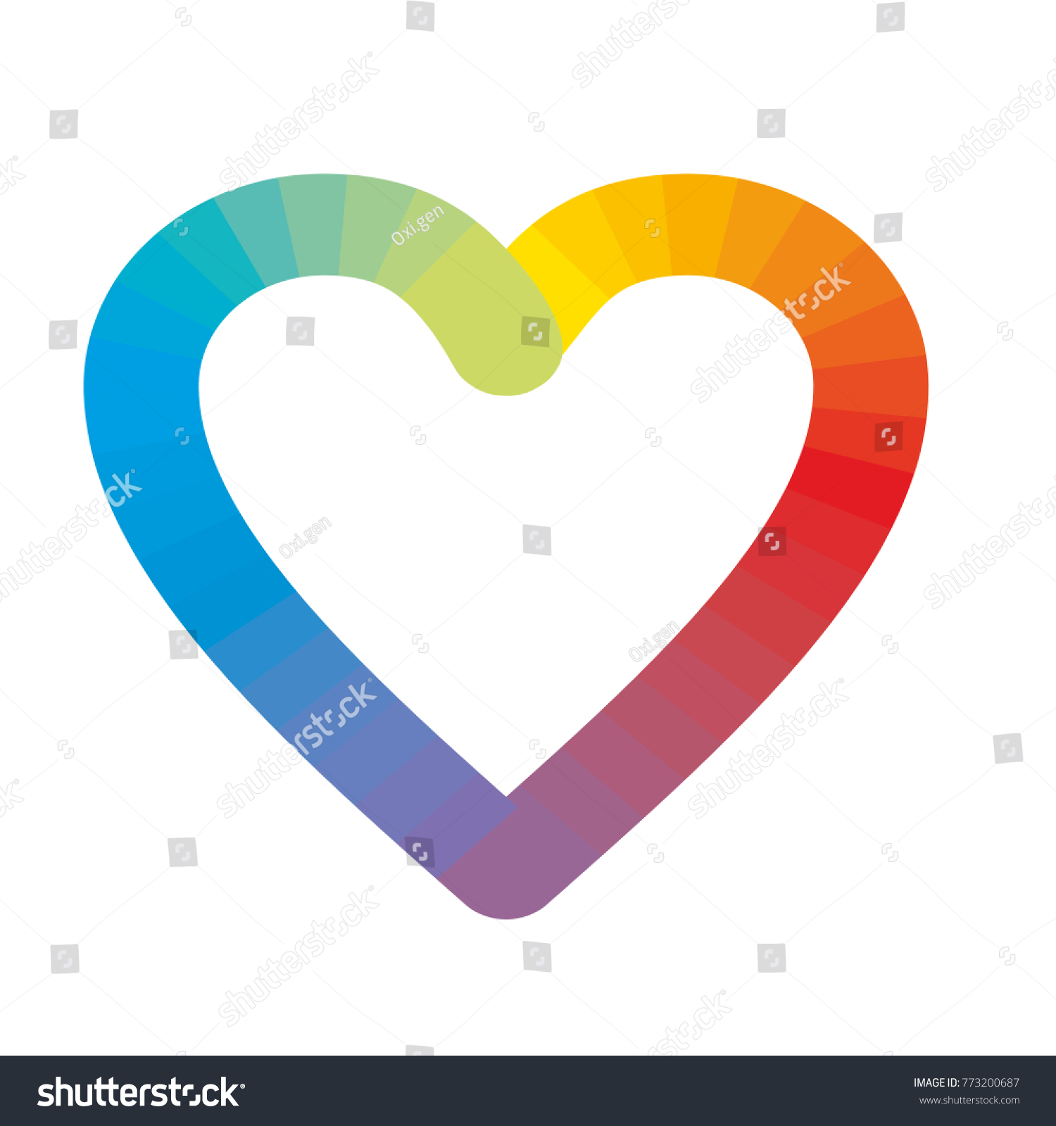 Rainbow heart logo isolated on white stock vector 773200687 rainbow heart logo isolated on white symbol of tolerance and peace biocorpaavc Image collections
