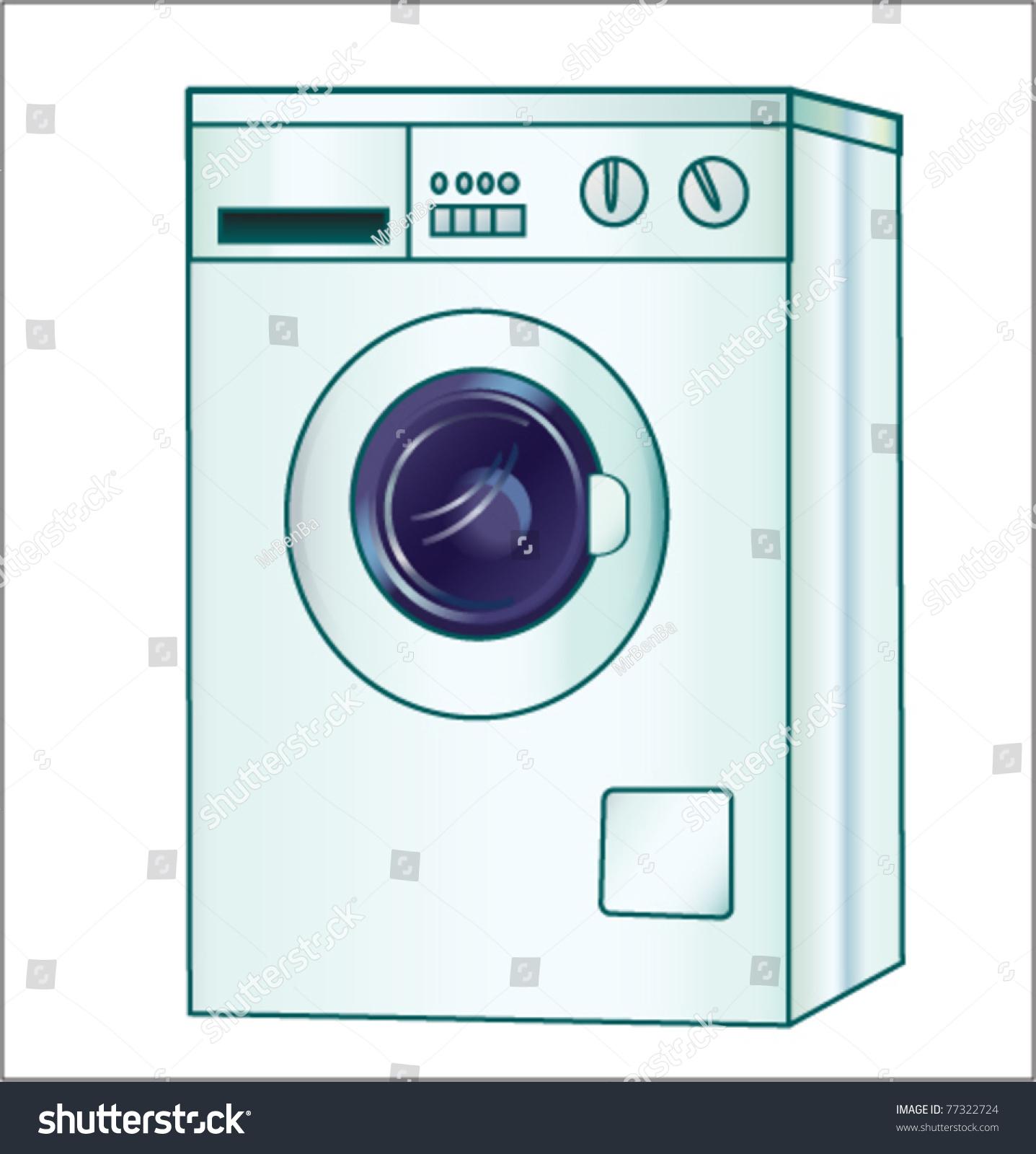 Cartoon Washer And Dryer ~ Washing machine cartoon vector illustration