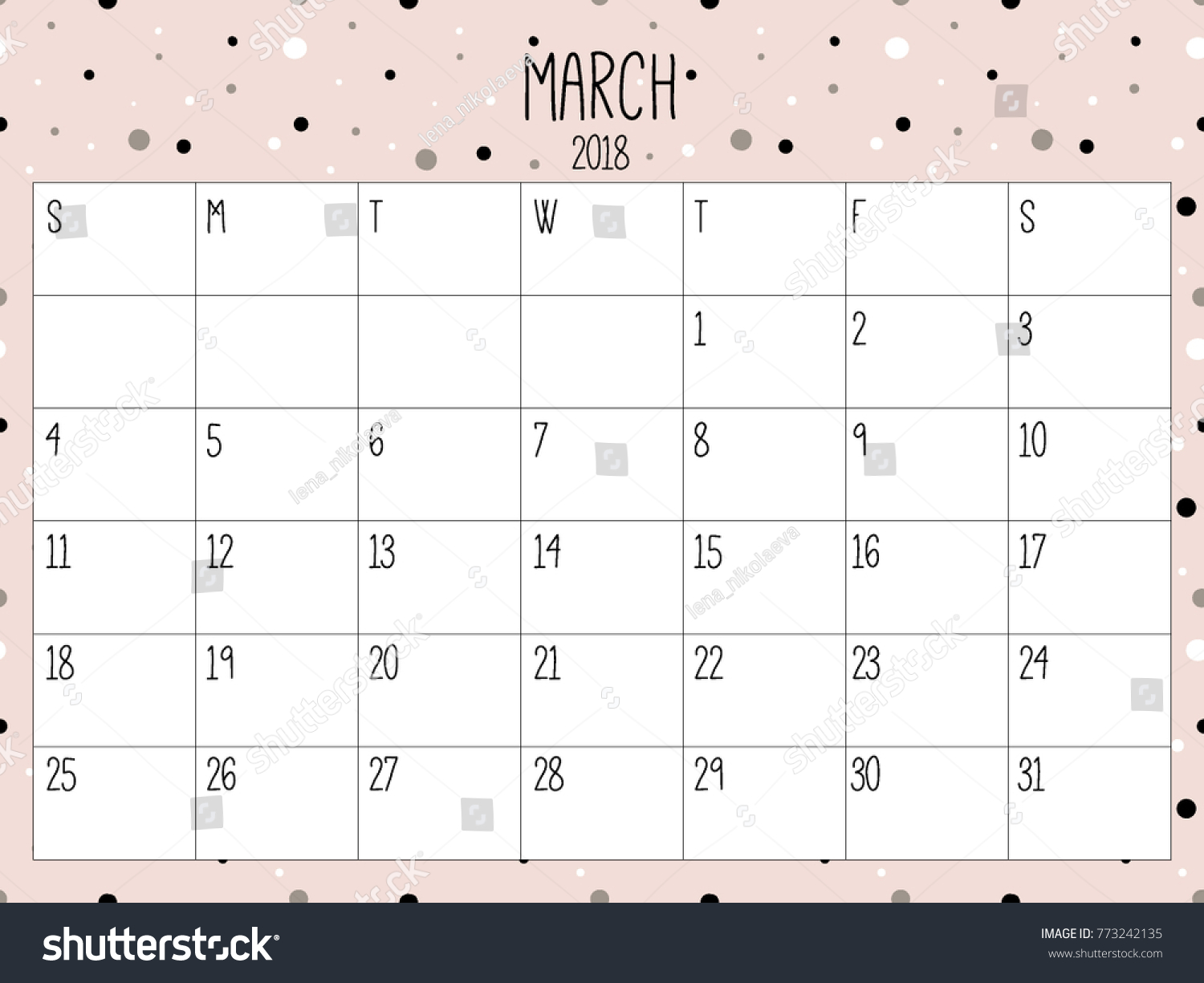 march planner modern creative calendar 2018 abstract monthly calendar template with doodle hand drawn