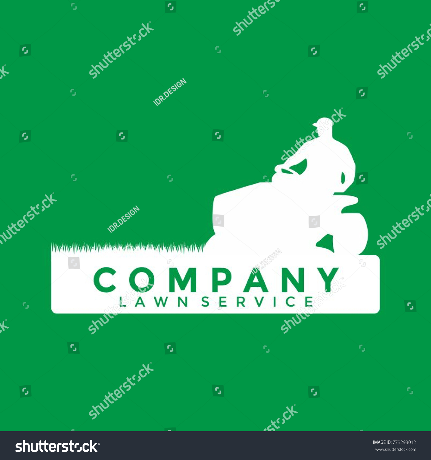 lawn service logo template stock vector royalty free 773293012