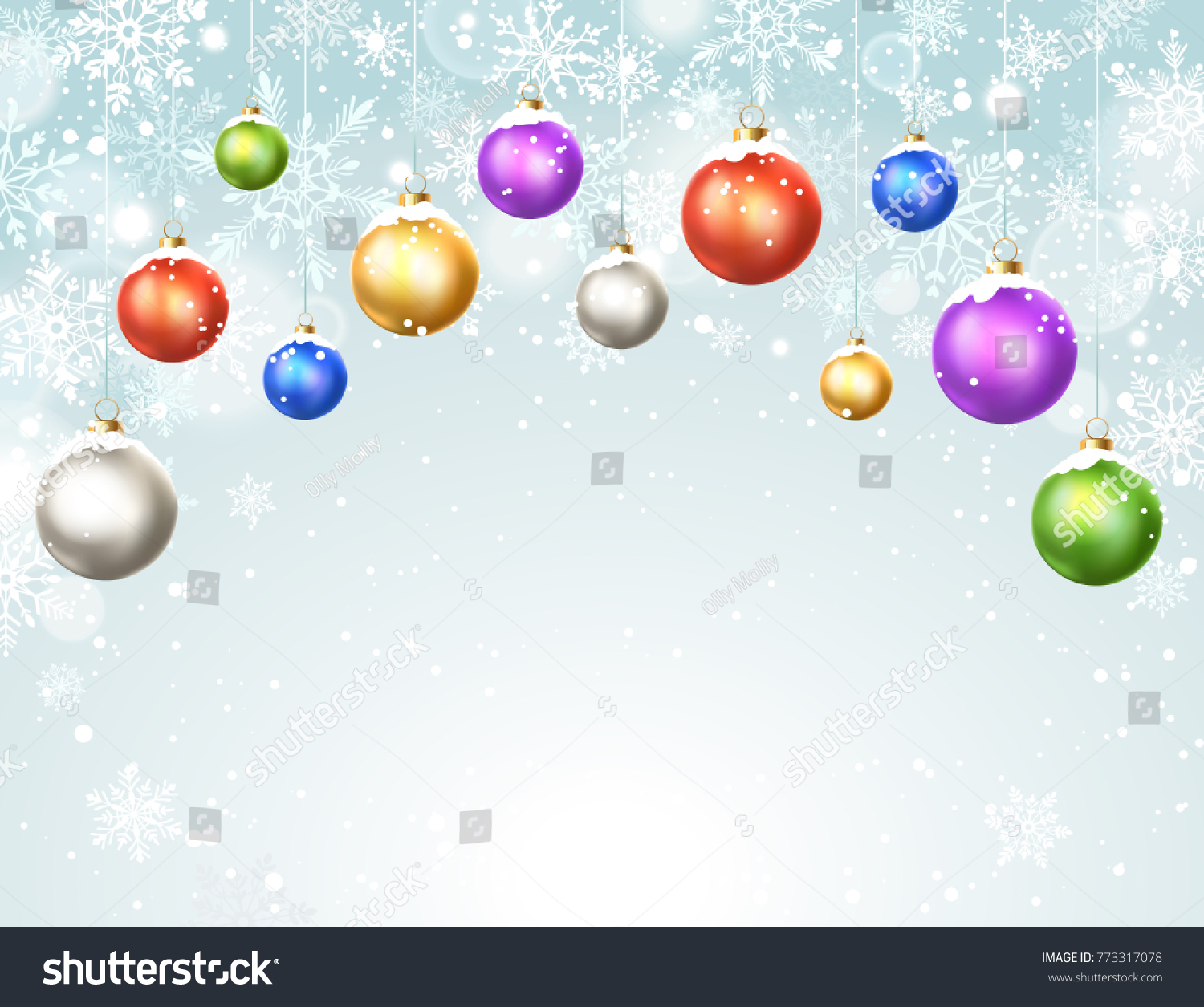 Happy holidays greeting card template modern stock vector happy holidays greeting card template modern new year christmas balls with snowflakes on blue background kristyandbryce Image collections