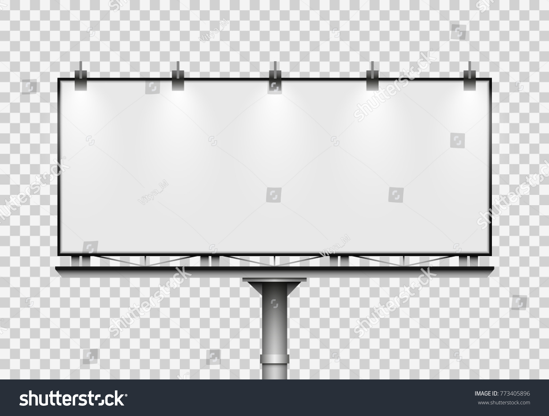 Blank Big Billboard On Transparent Background Stock-Vektorgrafik ...