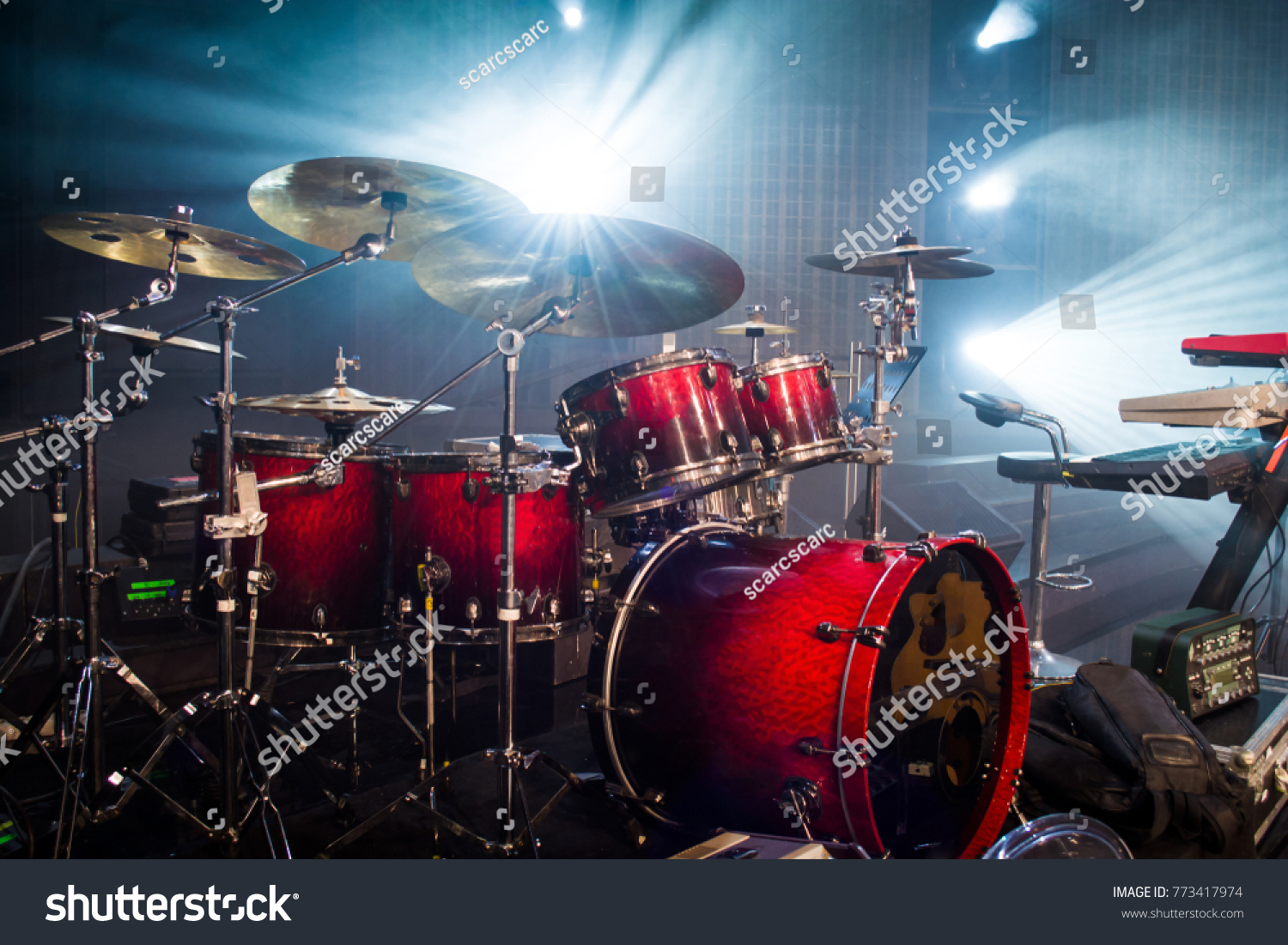 Drum Set On Stage Light Background Stock Photo Edit Now 773417974