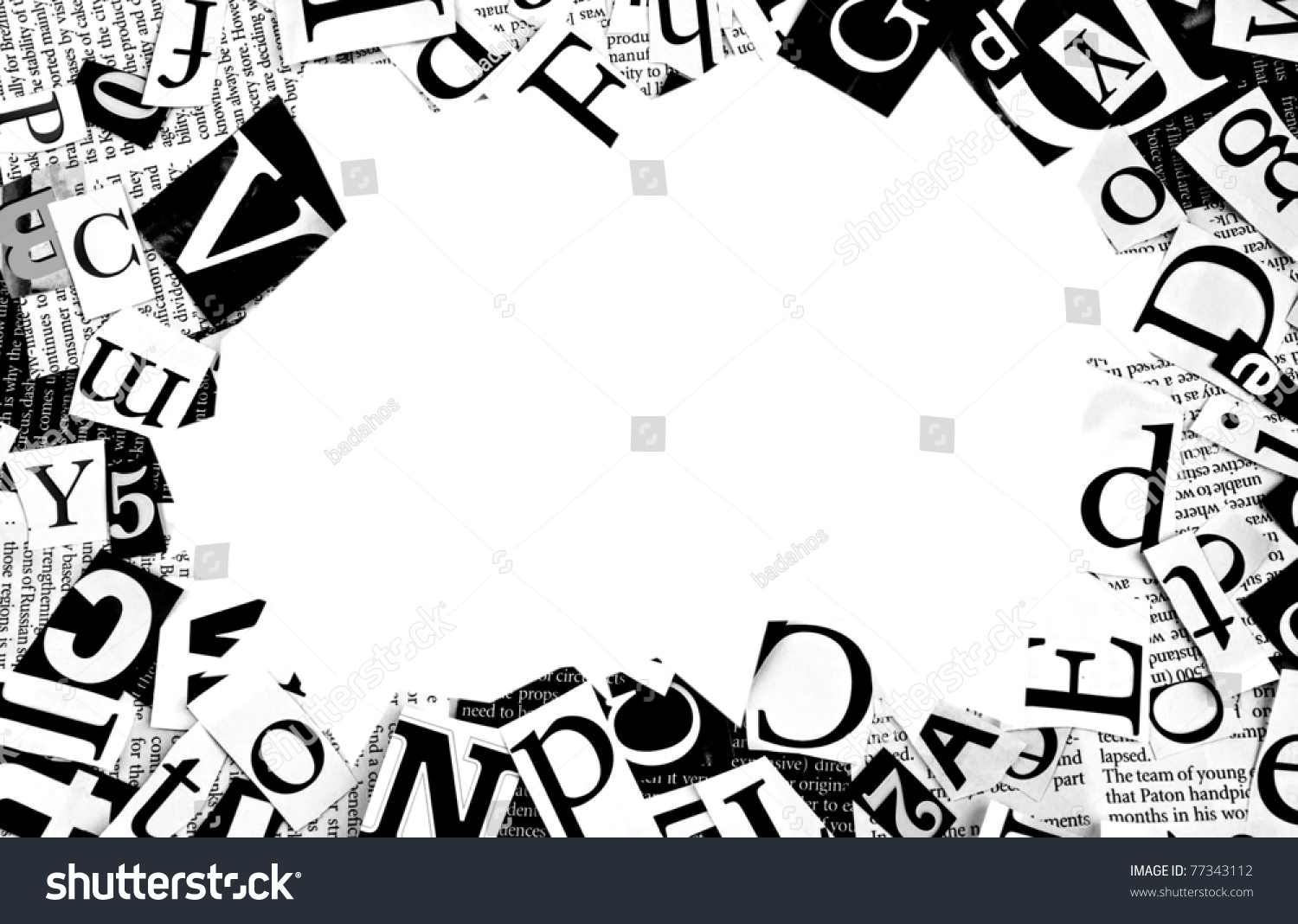 letters cut newspaper background stock photo (edit now) 77343112