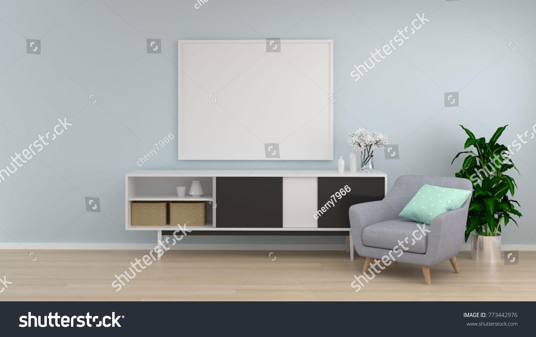 Mock Frame White Room Cabinet Armchair Stock Illustration 773442976 ...