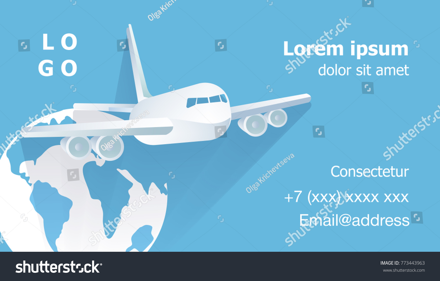 Airplane Flying Against Background Globe On Stock Vector 773443963 ...