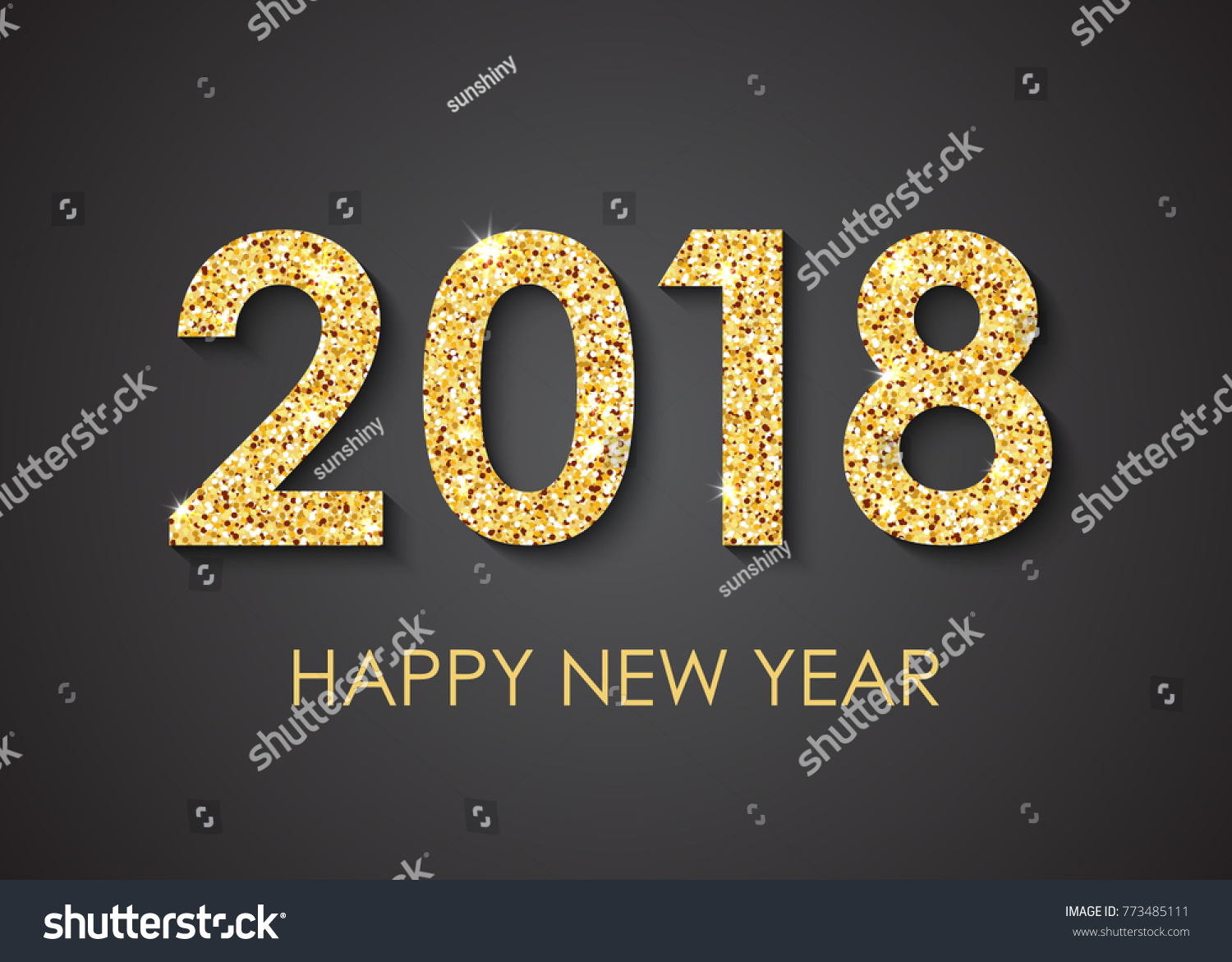 2018 happy new year text greeting stock illustration 773485111 2018 happy new year text for greeting card calendar invitation kristyandbryce Images