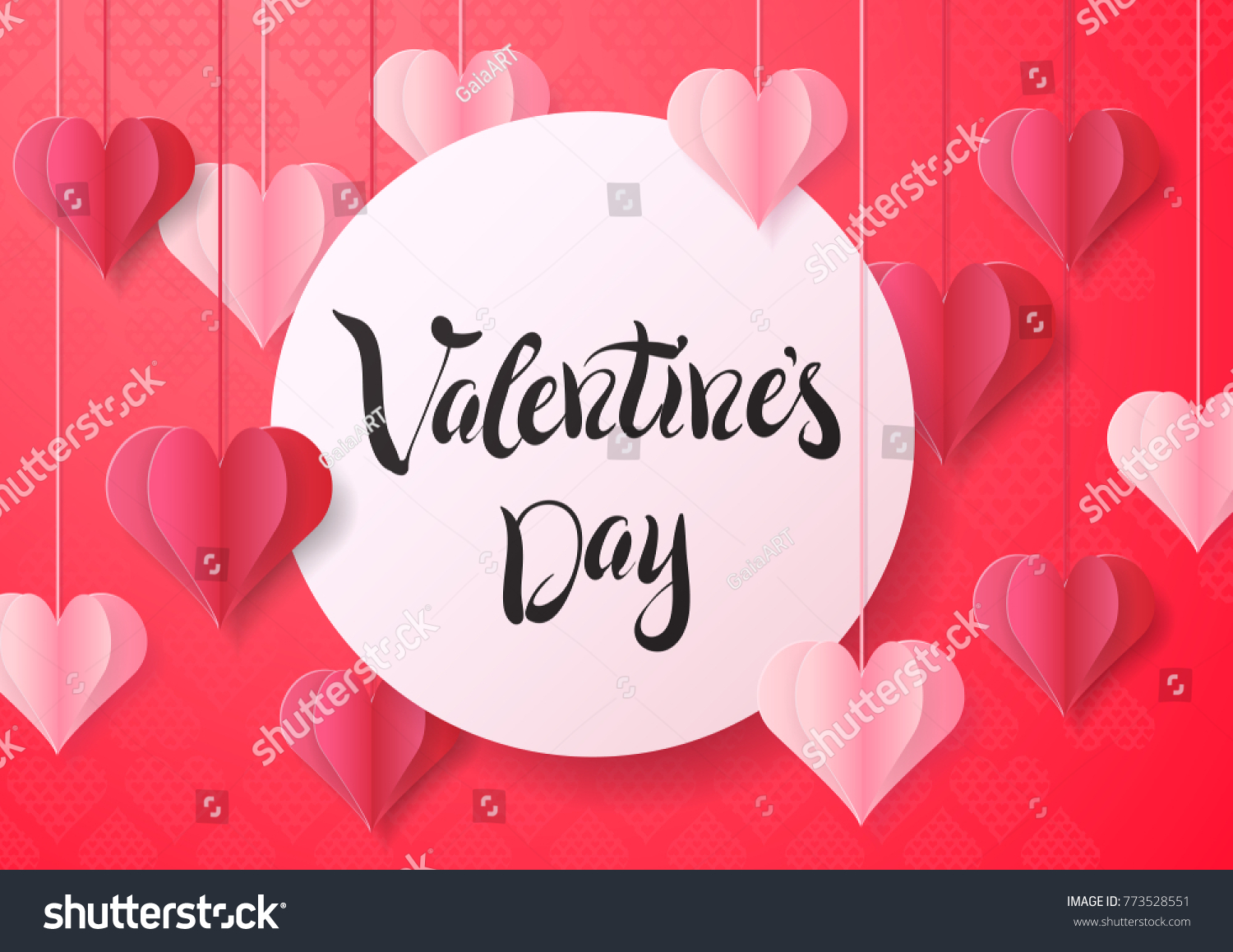 Happy Valentines Day Design Greeting Card Stock Vector Royalty Free
