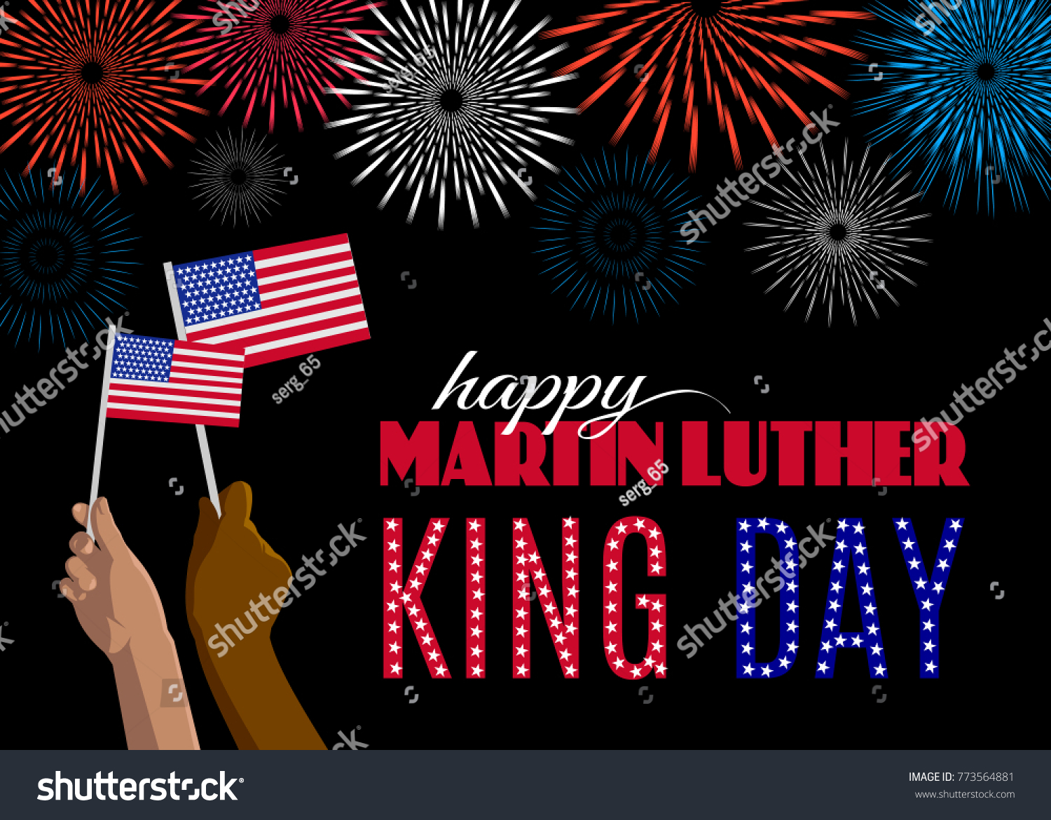 Happy Martin Luther King Day Placard Stock Vector Royalty Free