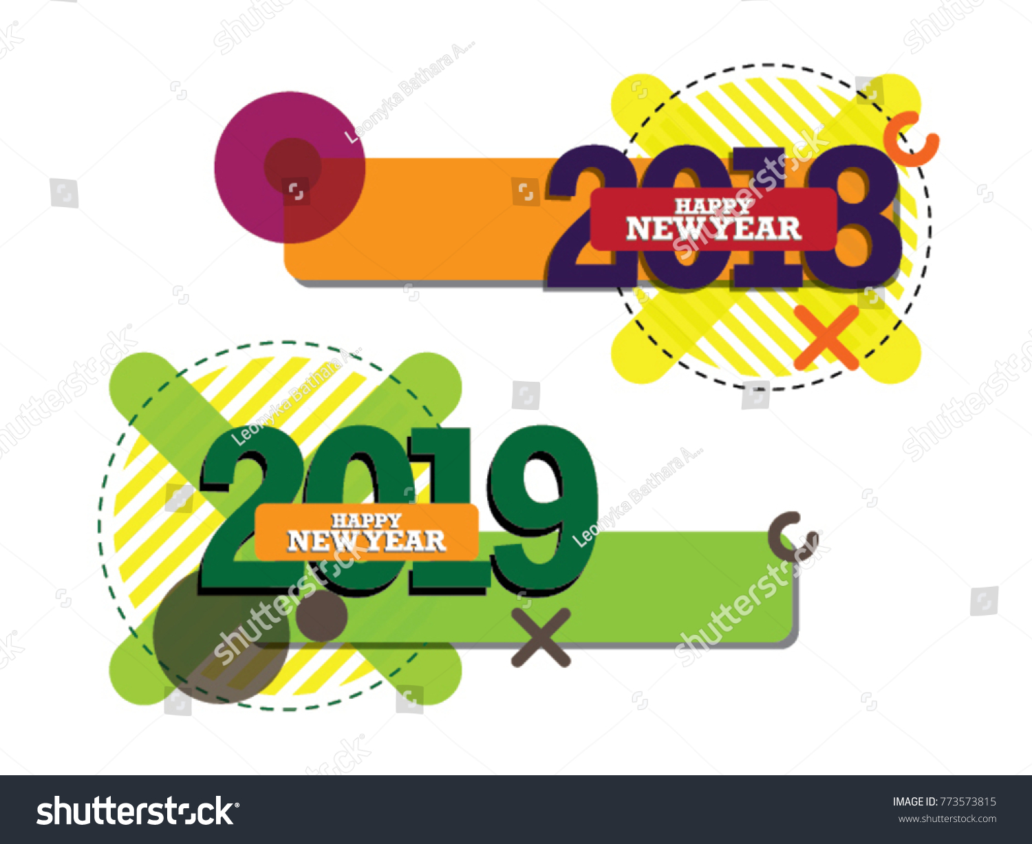 happy new year 2018 2019 card text design