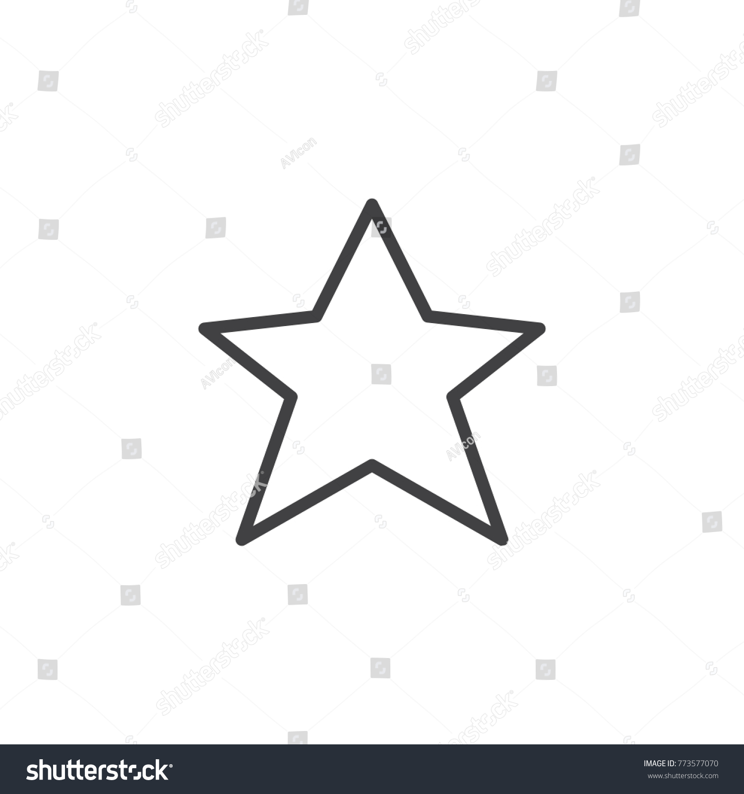 Star favorite line icon outline vector stock vector 773577070 star favorite line icon outline vector sign linear style pictogram isolated on white sciox Images