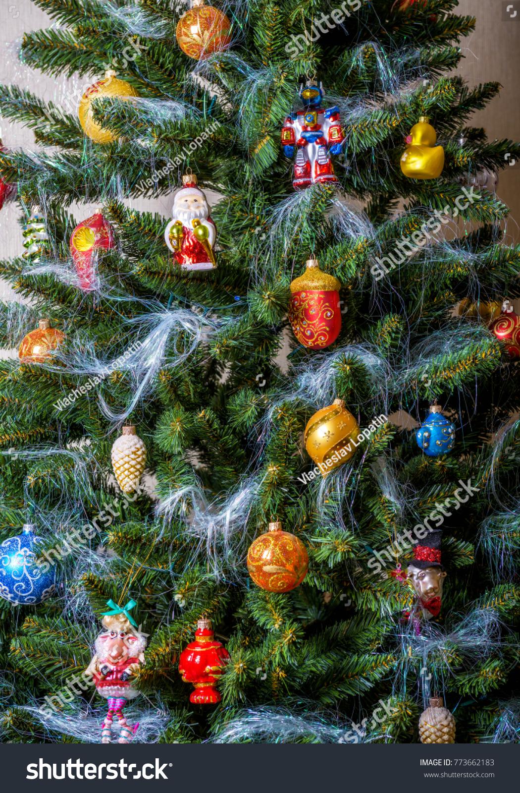 Christmas Tree Decorations Home Colorful Christmas Stock Photo Edit Now 773662183