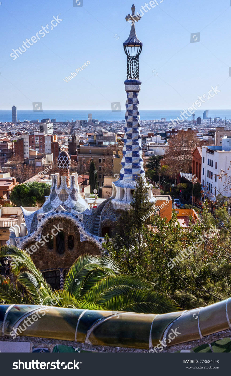 Barcelona Architecture Spain Park Guell Gaudi