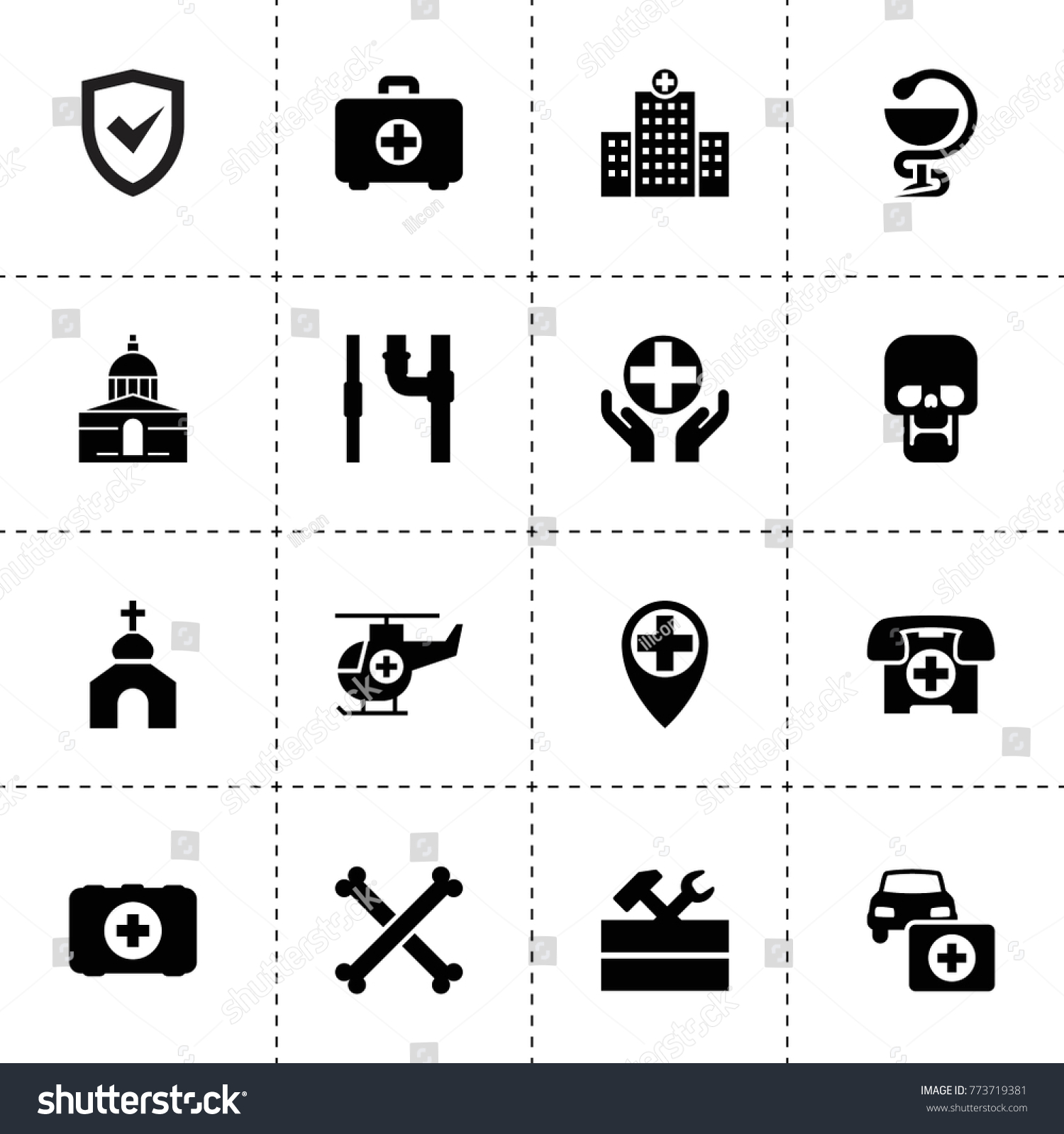 Cross Icons Vector Collection Filled Cross Stock Vector 773719381