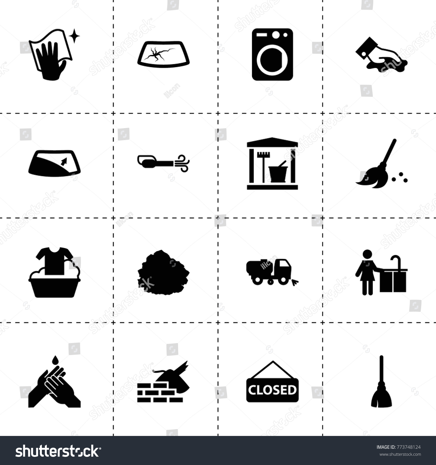 Dirty Icons Vector Collection Filled Dirty Stock Vector Royalty