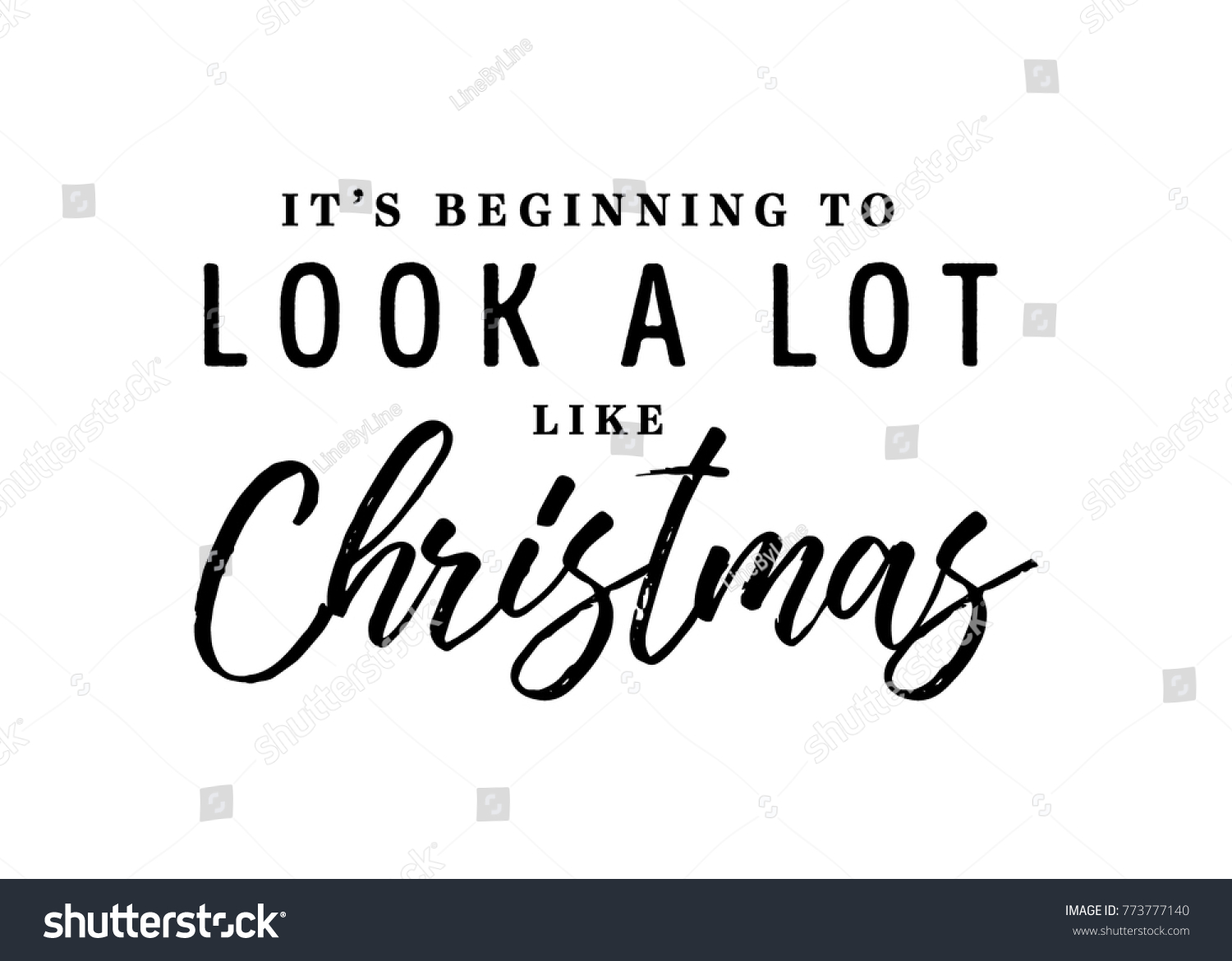 Beginning Look Like Christmas Vector Text Stock Vector (Royalty Free ...