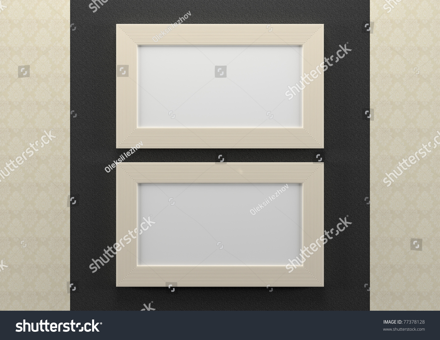 Empty Picture Frames On Wall. 3d Empty Frames On Wall Picture ...