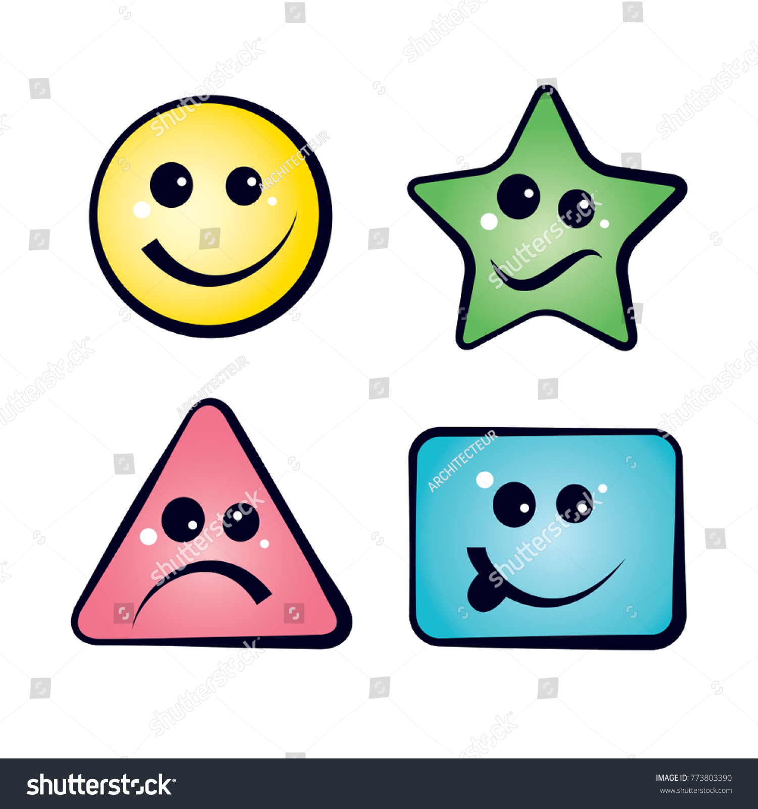 color smiley faces emoji icons vector stock vector royalty free