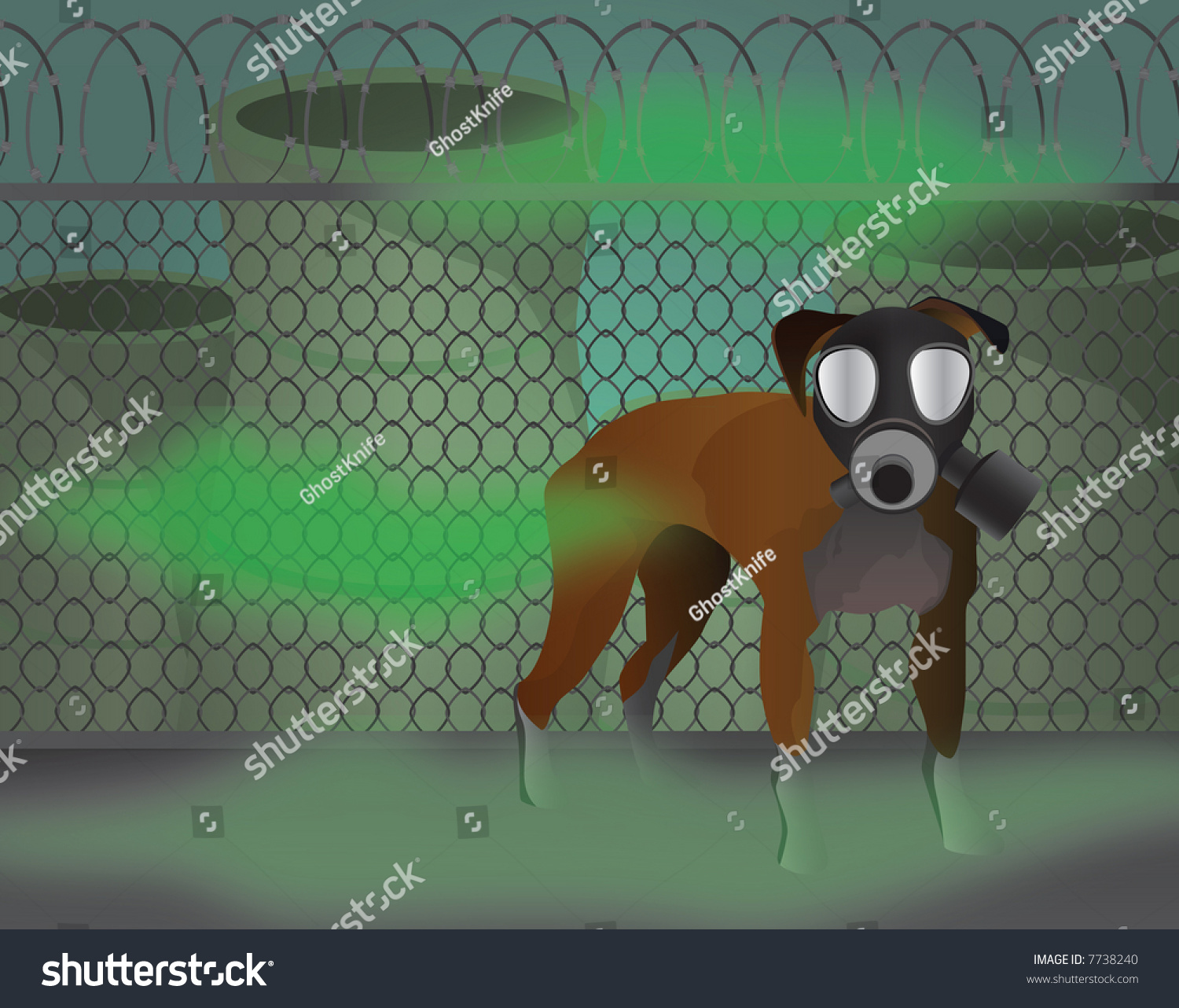 Cartoon dog stock photos images amp pictures shutterstock - Dog In Gas Mask