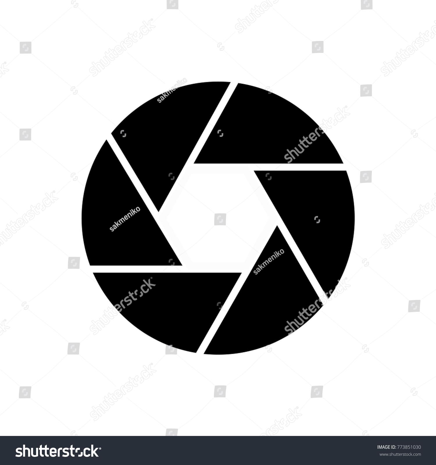 Camera Diafragma Icon Black White Stock Vector Royalty Free
