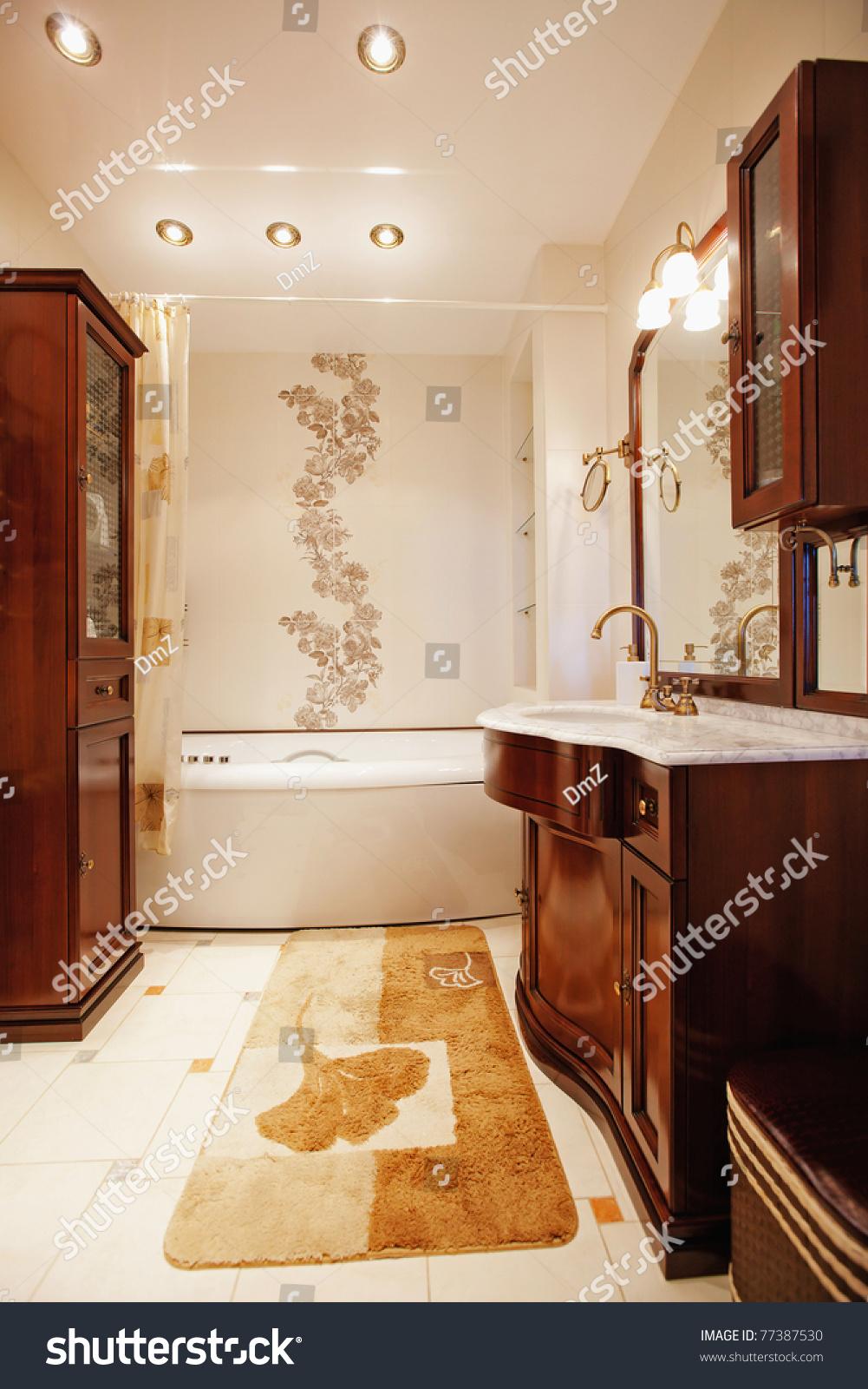 Beautiful modern apartment interior stock photo 77387530 for Beautiful flats interior