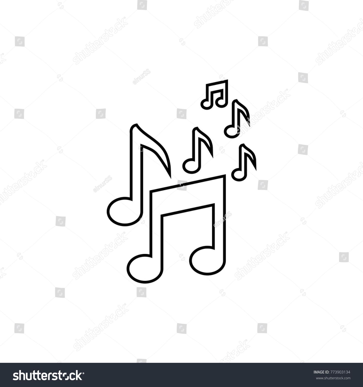 Musical Symbols Vector Icon Ez Canvas