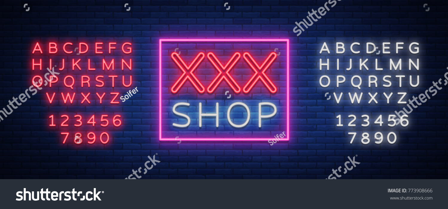 Sex shop logo night sign neon stock vector 773908666 shutterstock sex shop logo night sign in neon style neon sign a symbol for biocorpaavc