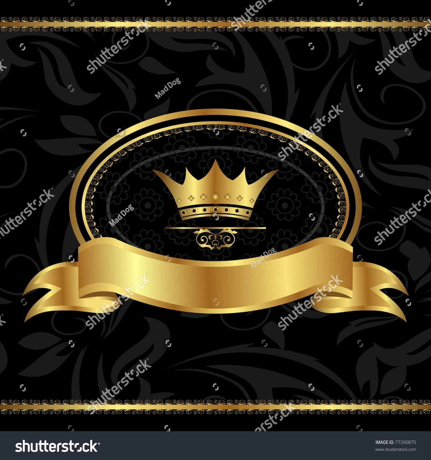 Elegant royal frame with crown vector colourbox - Royal Vectors Photos And Psd Files Free Download