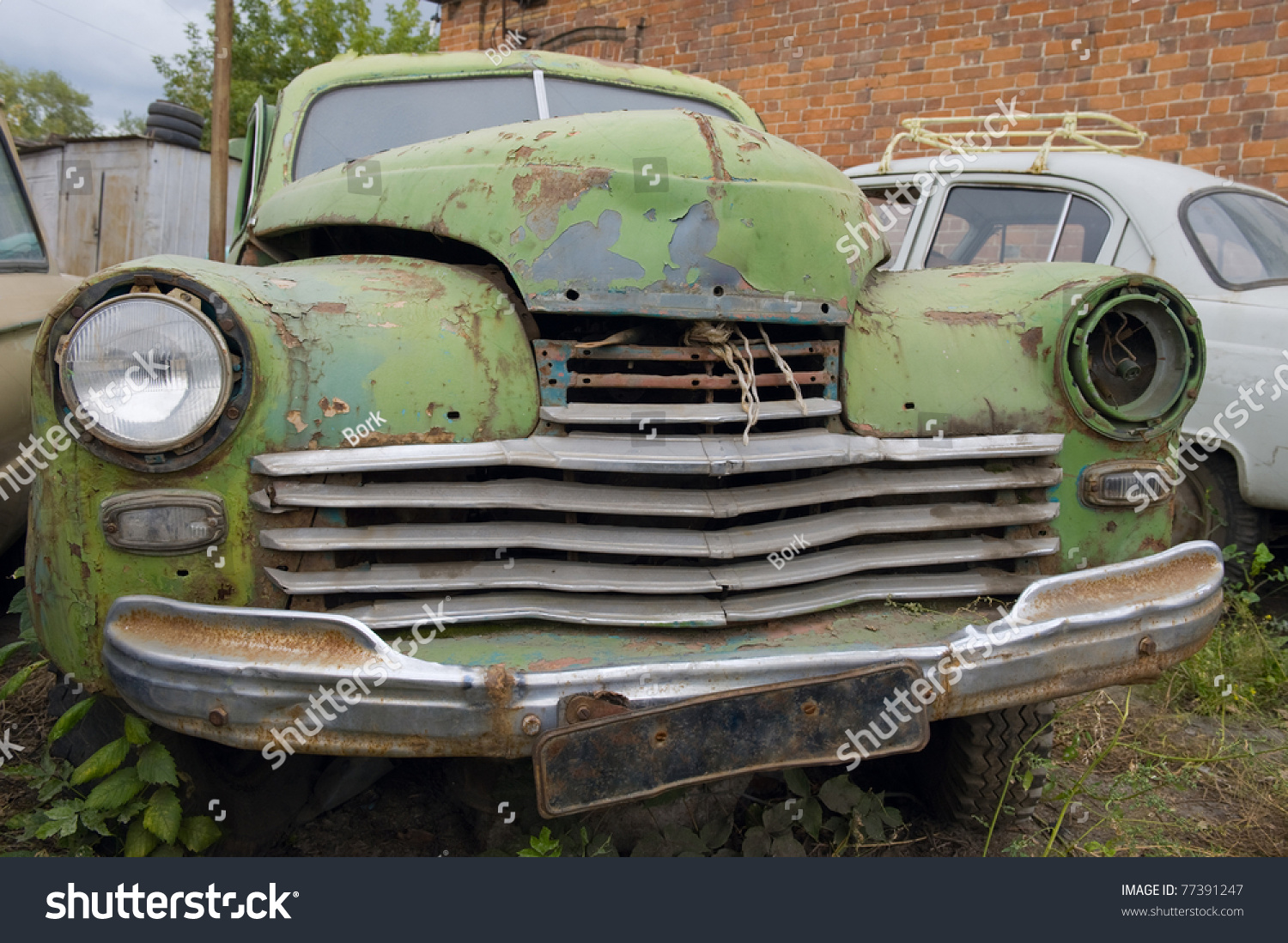 abandoned old broken car stock photo edit now 77391247 shutterstock