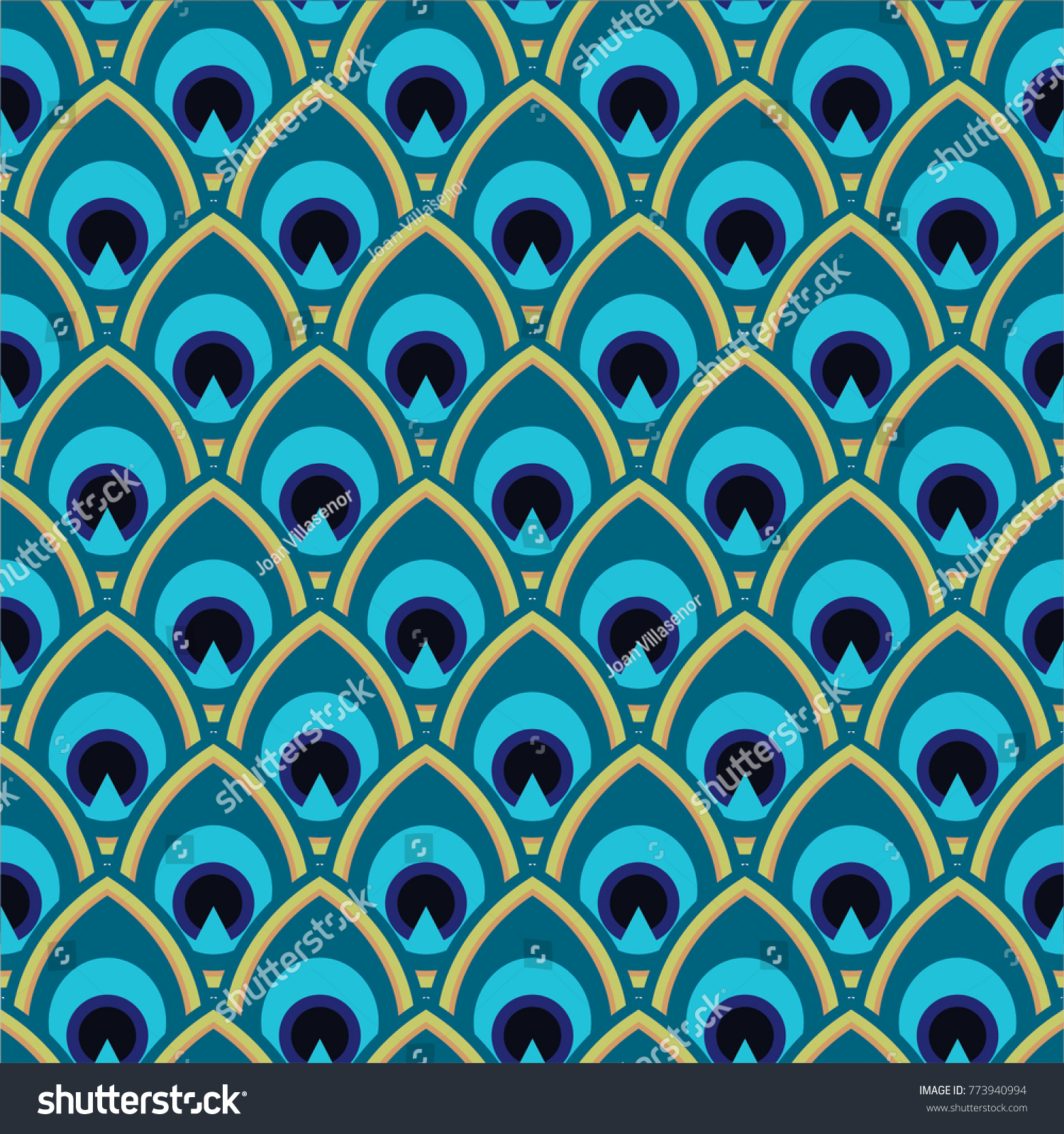 seamless peacock pattern stock vector royalty free 773940994
