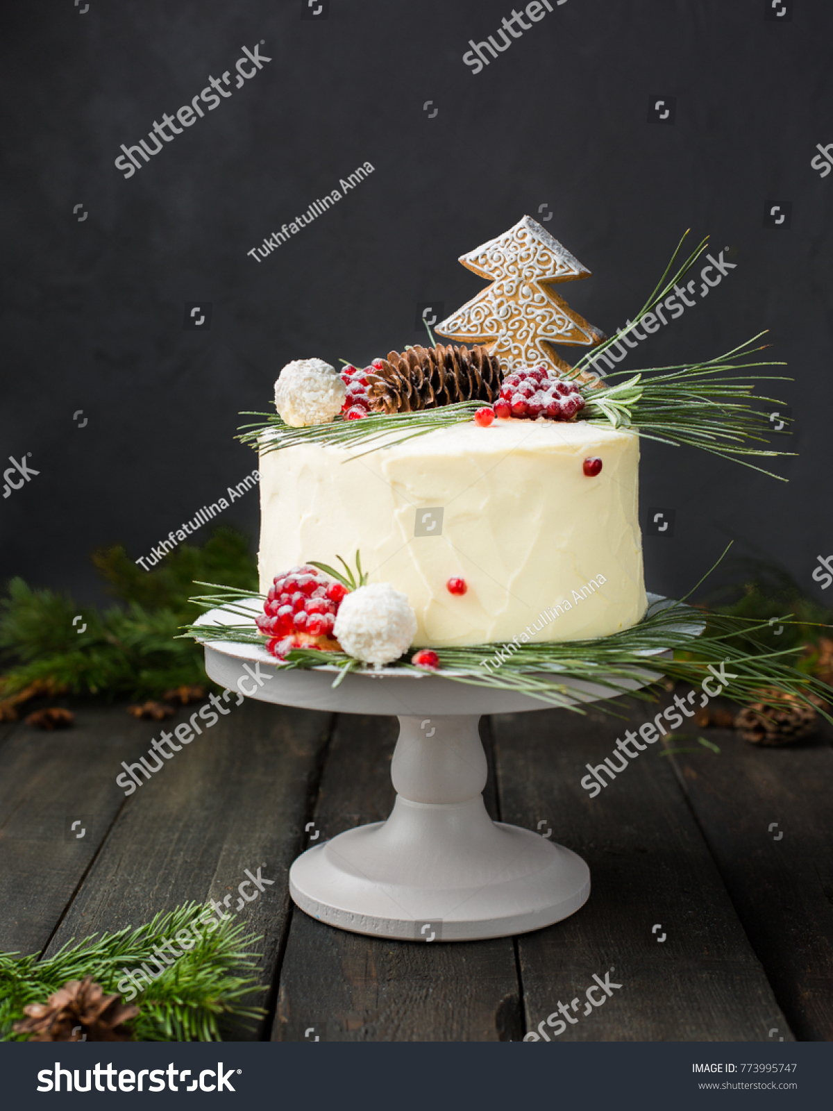 Beautiful Chocolate Cake Cheese Cream Coconut Stock Photo Edit Now