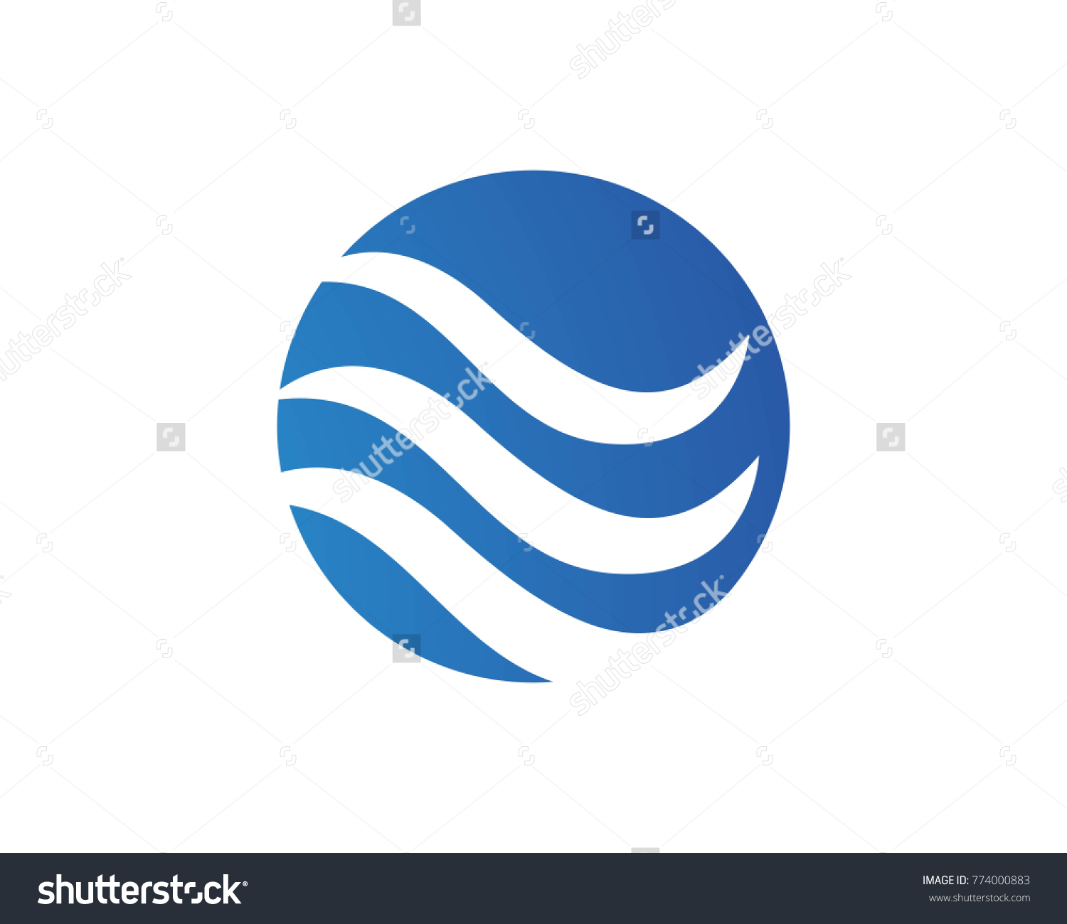 water wave logos stock vector 774000883 shutterstock rh shutterstock com wave logistics inc wave logo brand