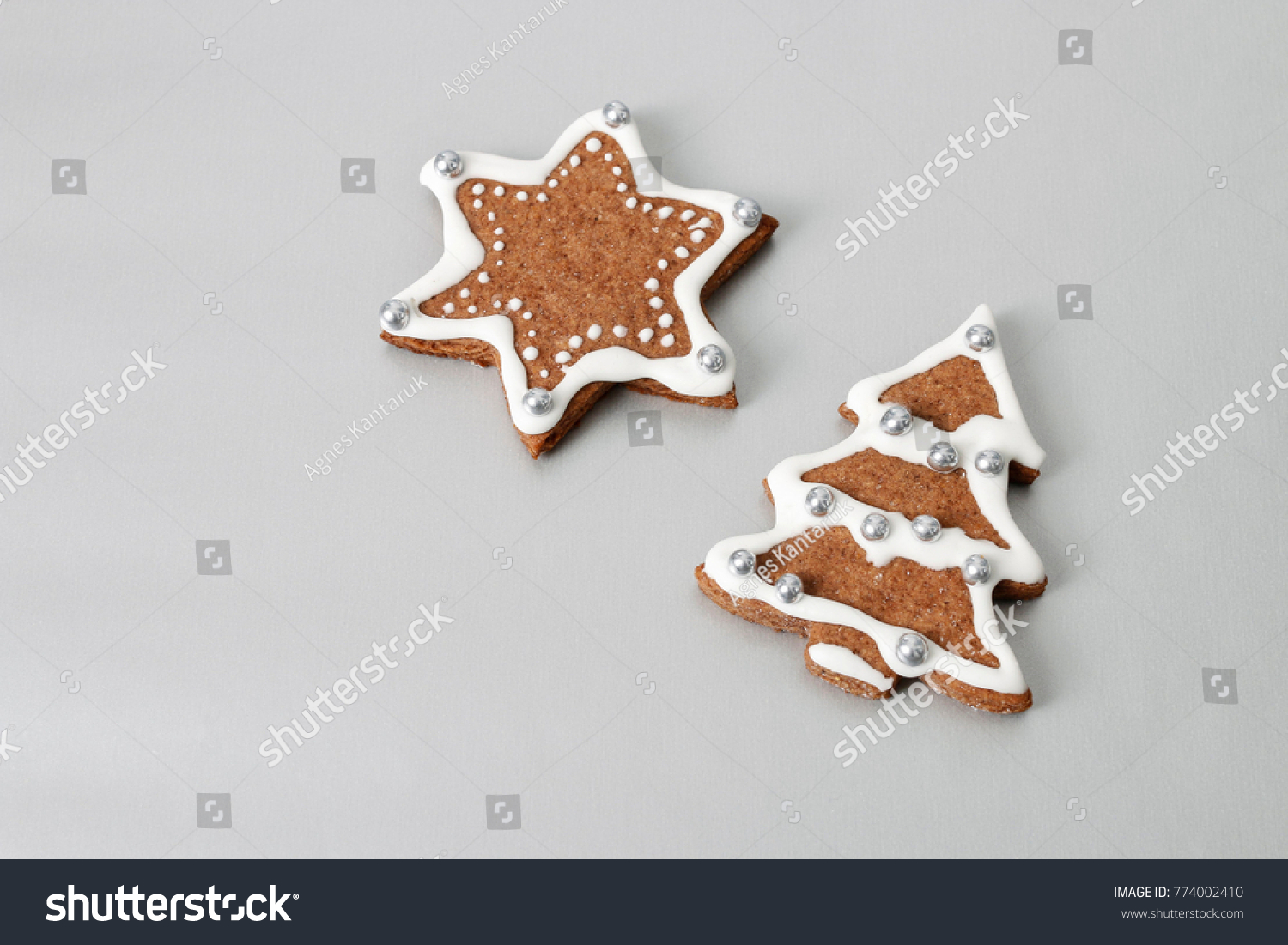 Gingerbread Christmas Tree Single Star On Stock Photo Edit Now