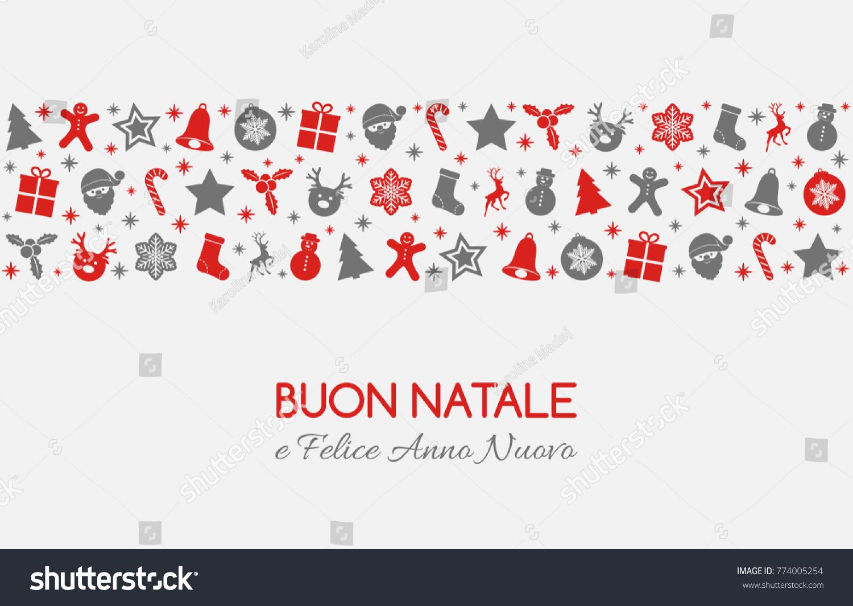 Buon natale merry christmas italian christmas stock vector buon natale merry christmas in italian christmas card with ornaments vector kristyandbryce Images