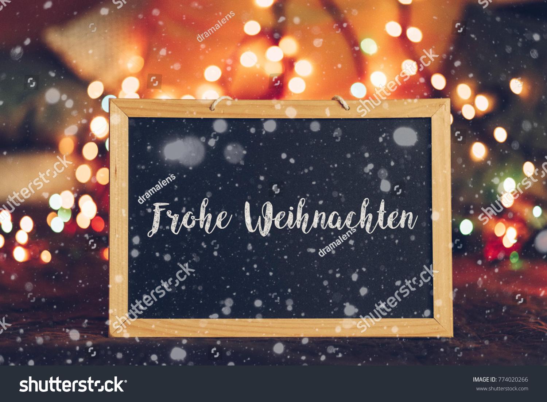 Merry Christmas Written German Language On Stock Photo Edit Now