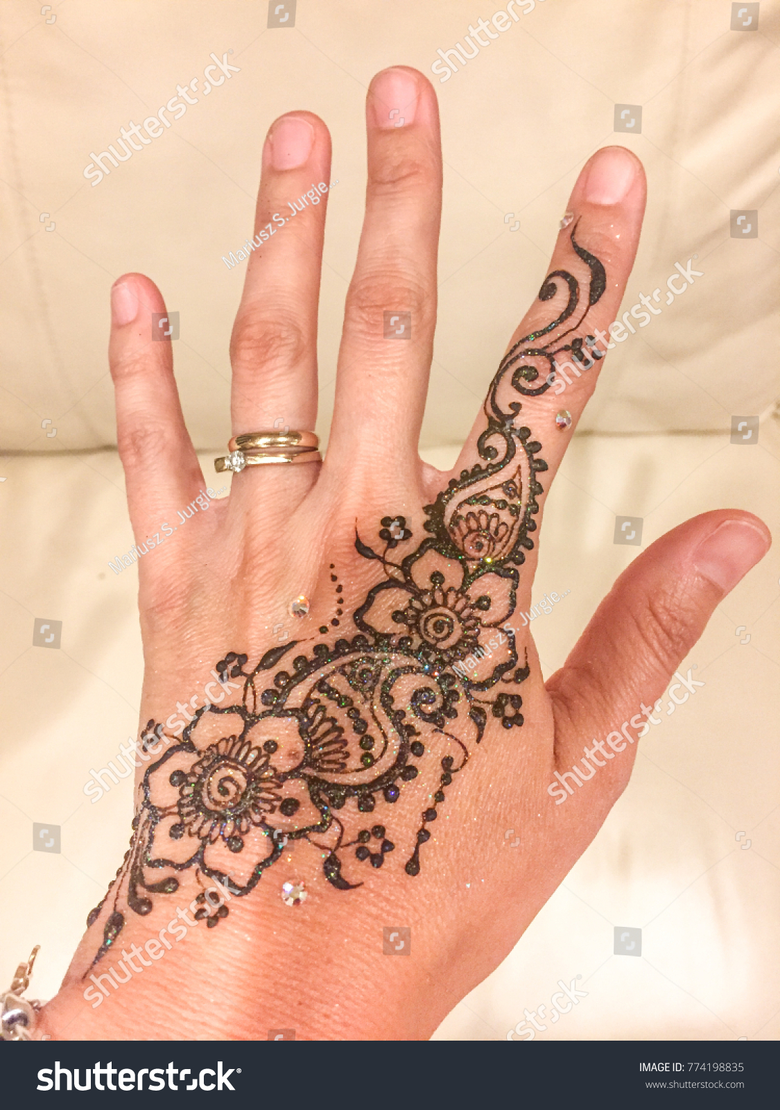 Mehndi Form Body Art Ancient India Holidays Stock Image 774198835