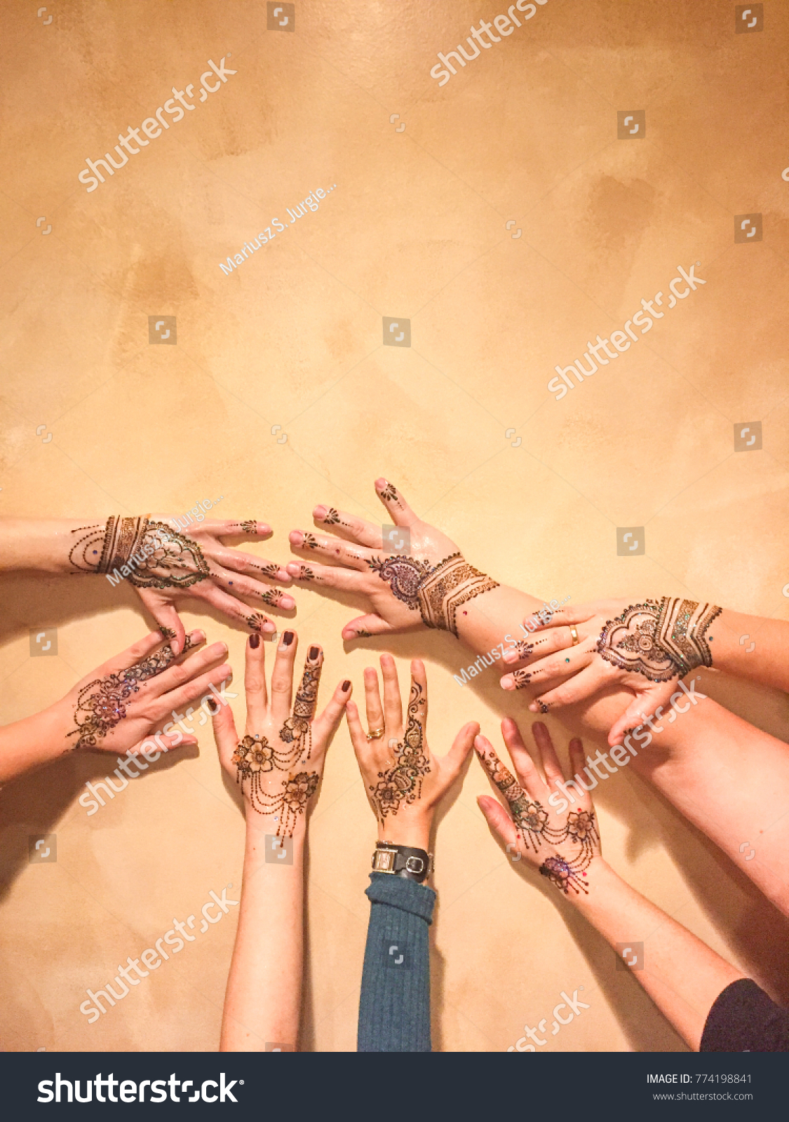 Mehndi Form Body Art Ancient India Stock Photo Edit Now 774198841