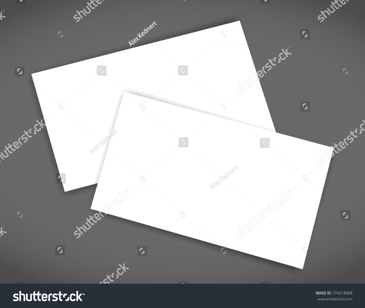 Business Card Blank Shadow Mockup Cover Stock Vector 774218068 ...