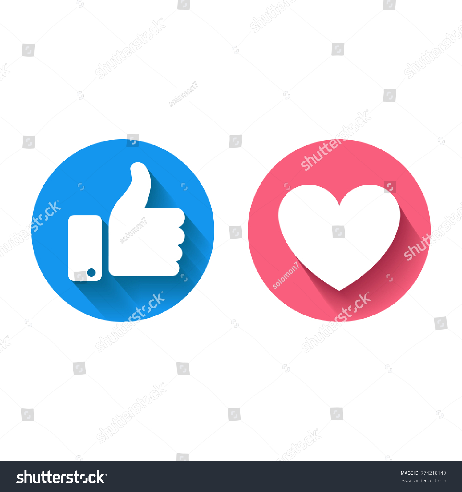 Thumbs Heart Icon On White Background Stock Vector Royalty Free