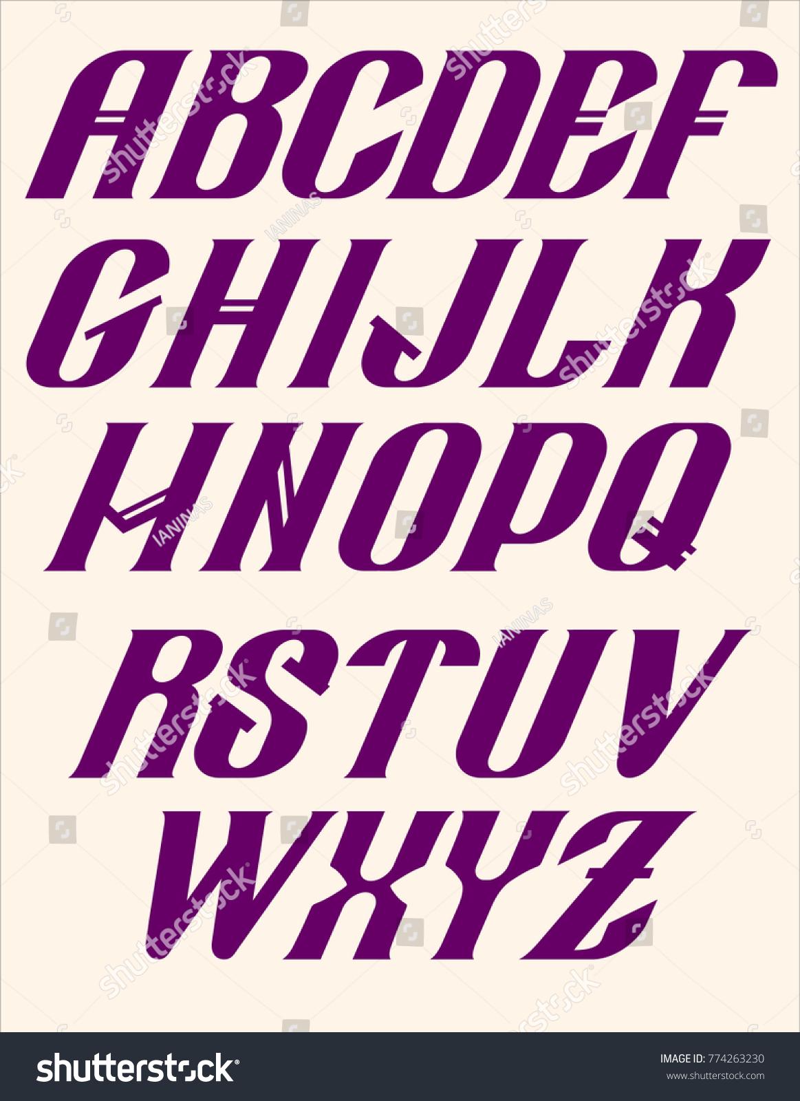 Alphabet Futuristic Hi Tech Technologies Electronic Letters Stock