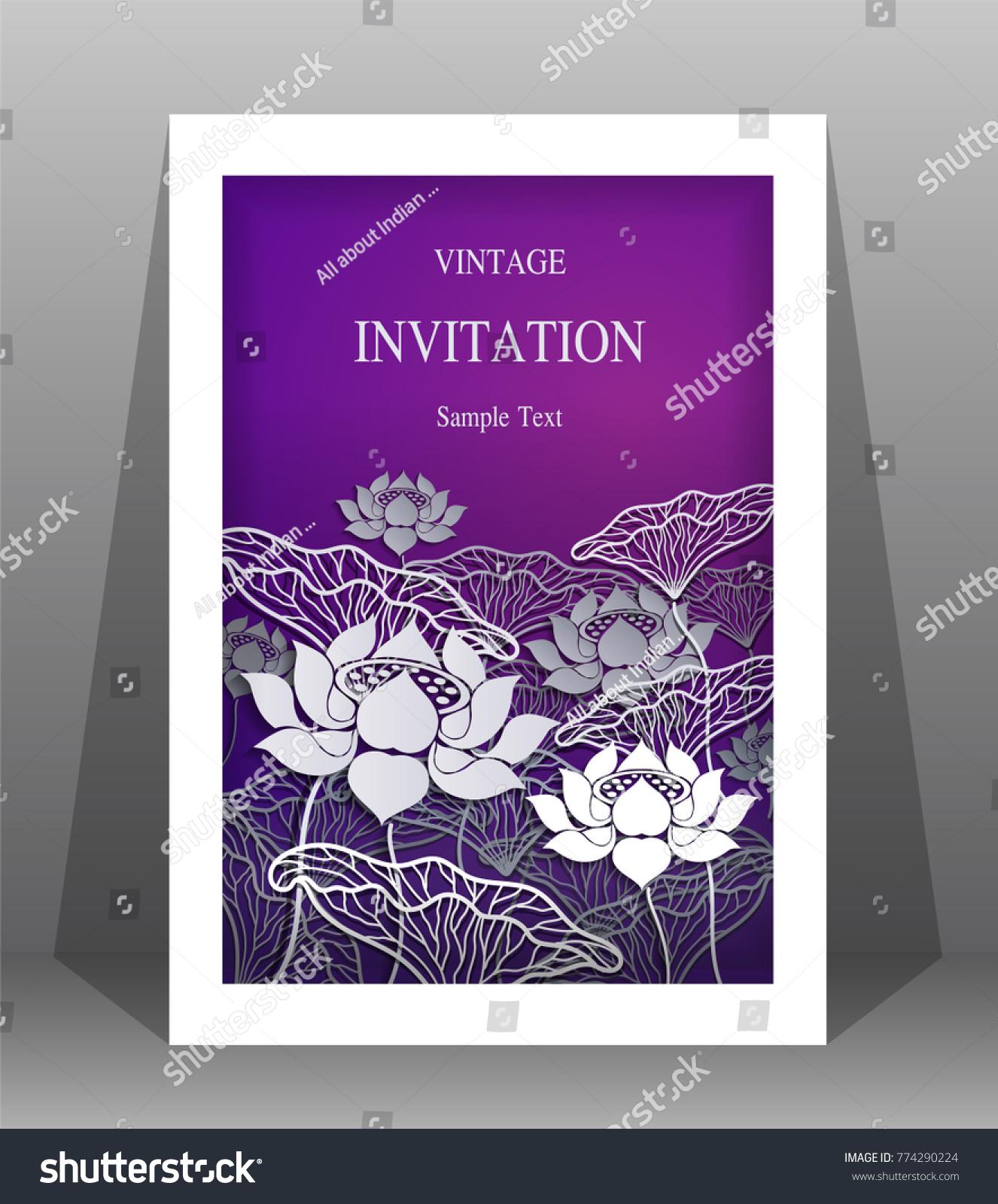 Wedding Invitation Card Templates Paper Art Stock Vector Royalty