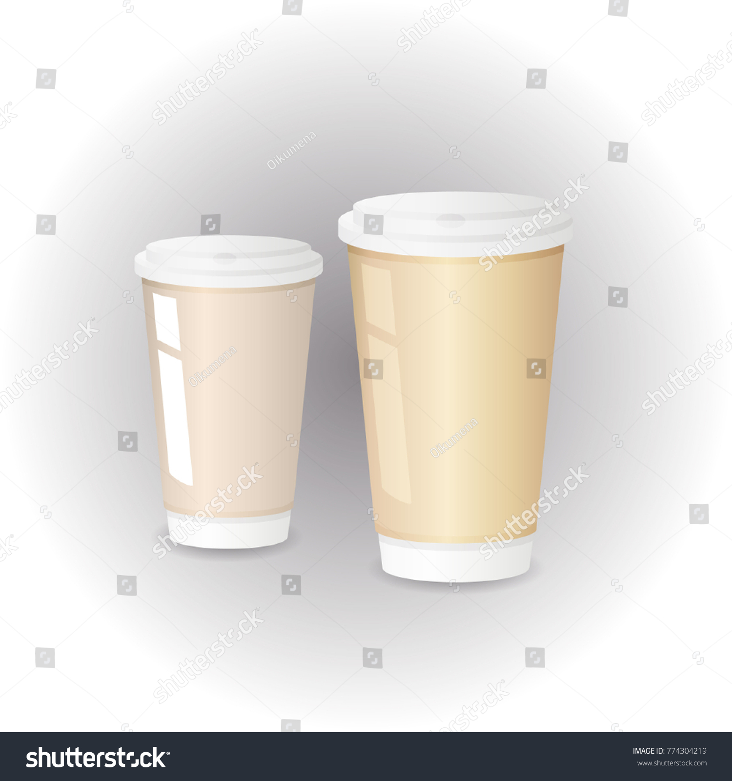 Paper Cup For Hot DrinksTemplate DesignCoffee Vector