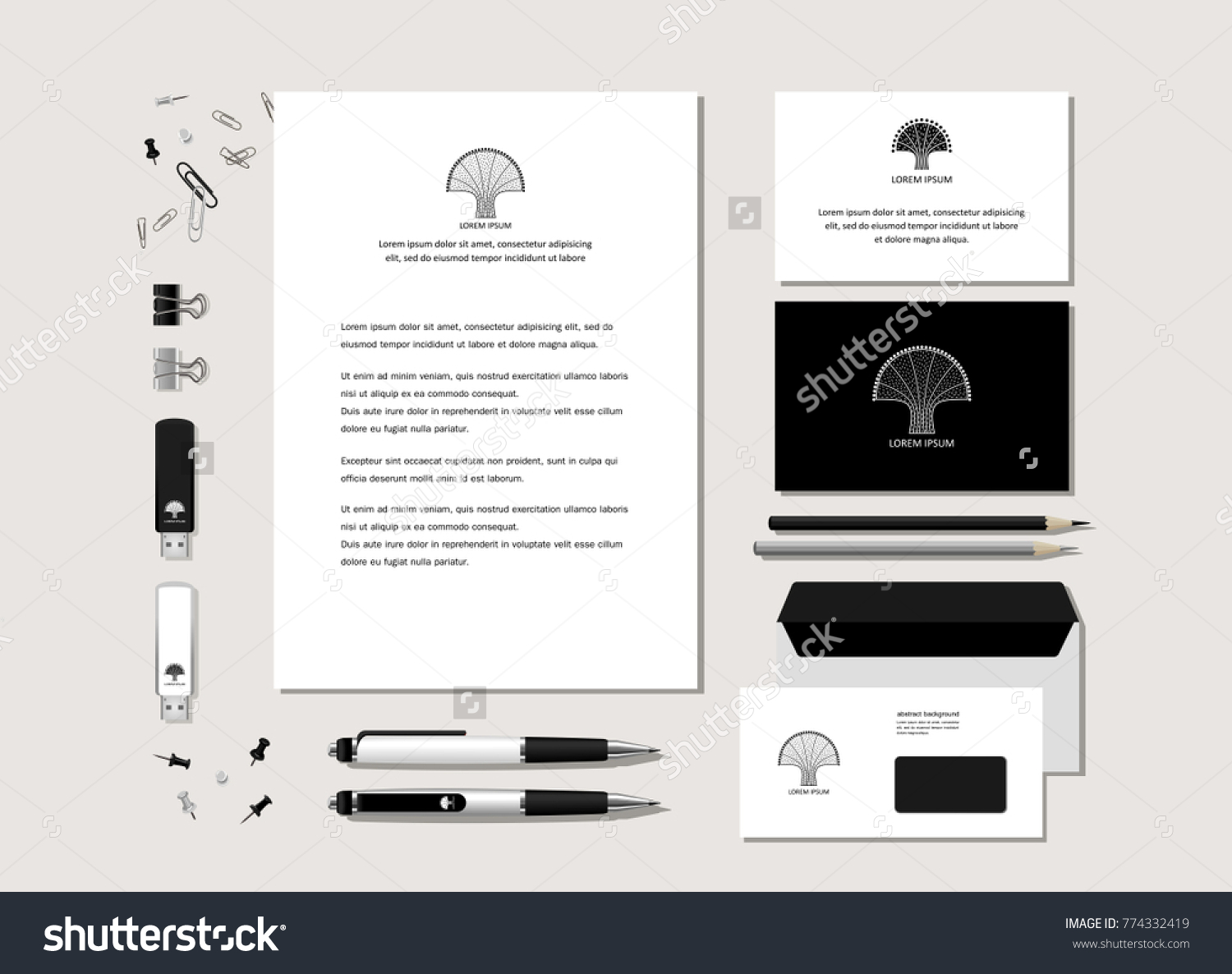 Neutral blackandwhite corporate identity stylized tree stock the neutral black and white corporate identity with the stylized tree samples of magicingreecefo Gallery